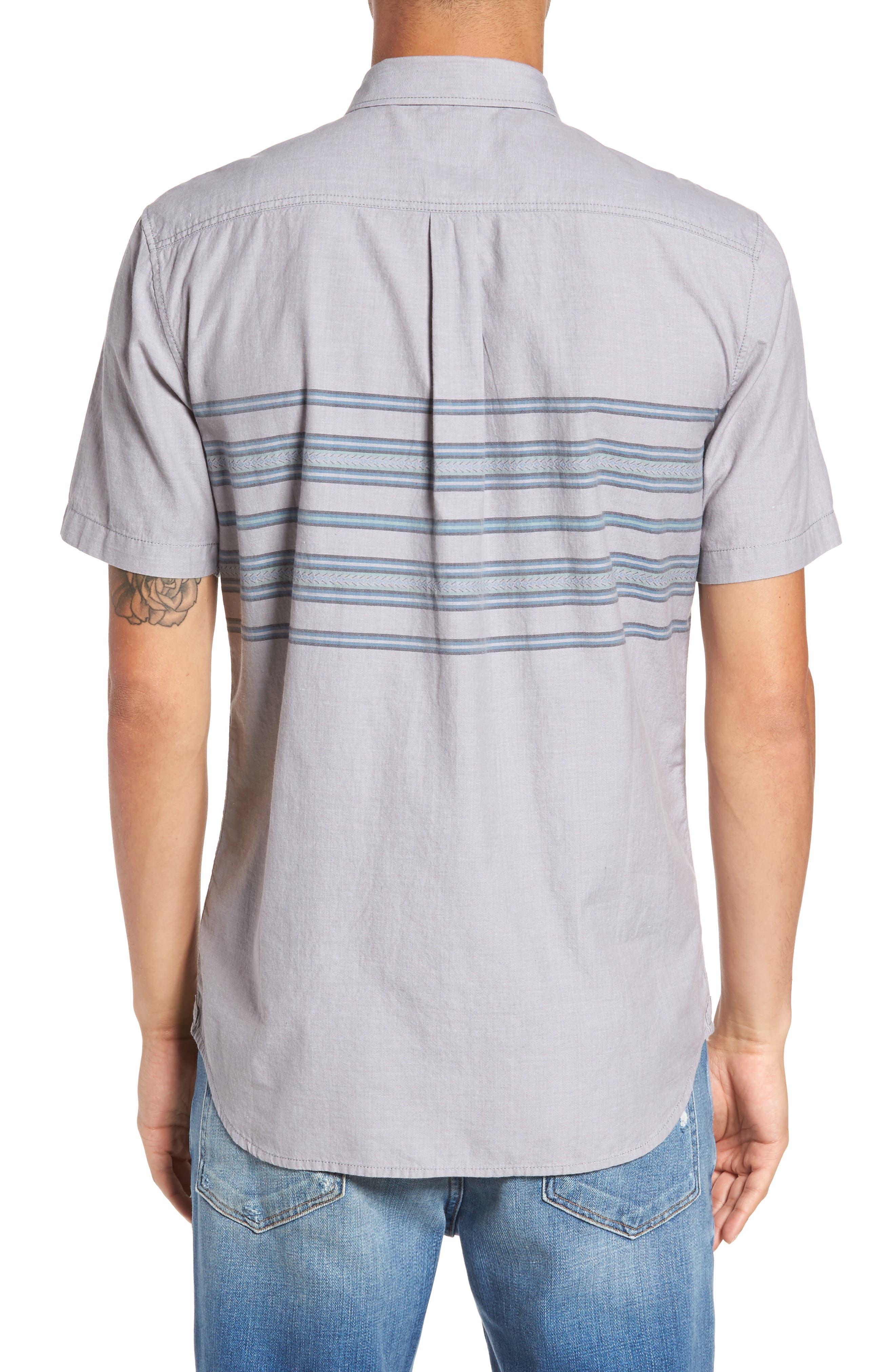 Benmore Striped Woven Shirt,                             Alternate thumbnail 2, color,                             021