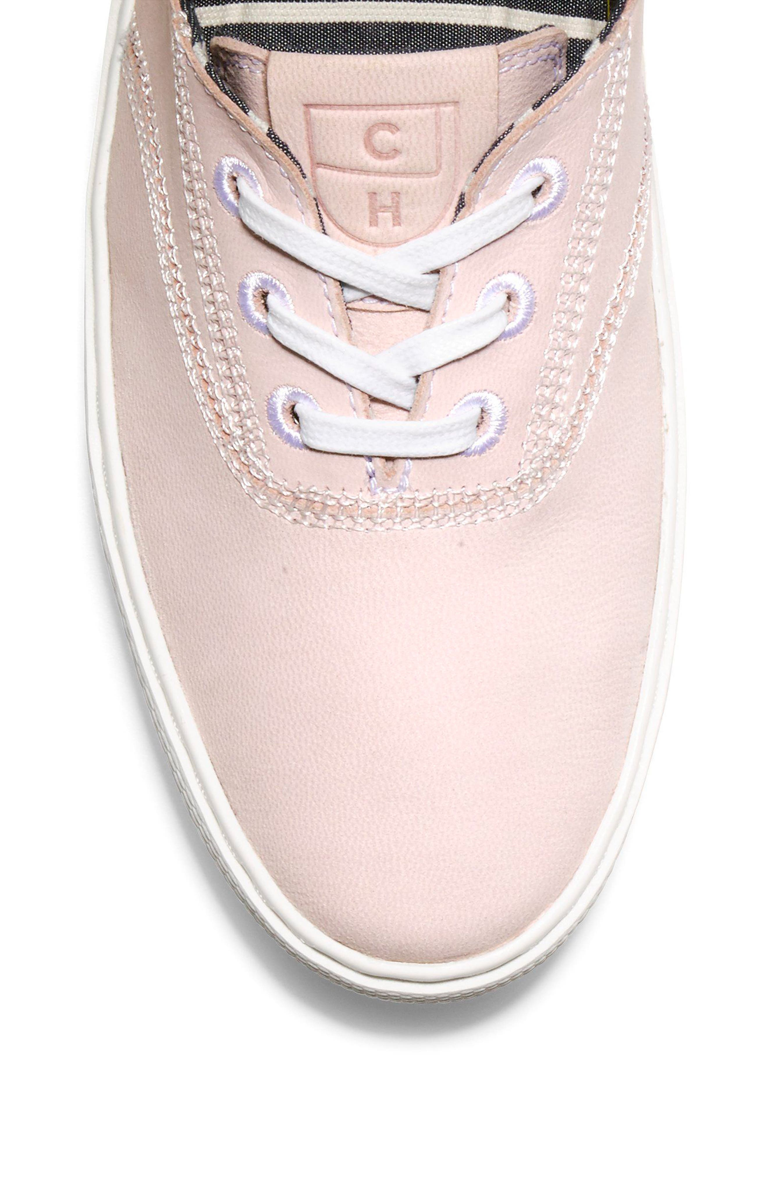 GrandPro Deck Sneaker,                             Alternate thumbnail 7, color,                             PETAL/ OPTIC WHITE NUBUCK