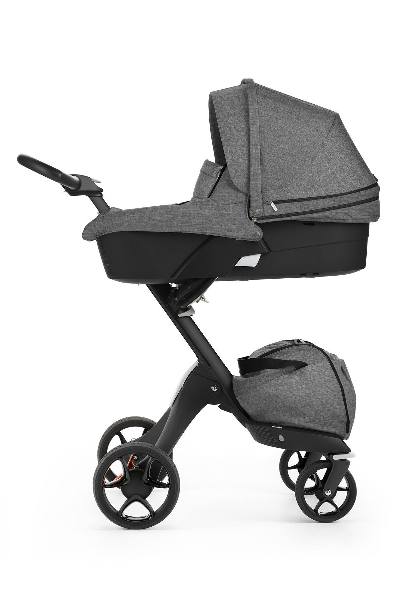 STOKKE,                             Xplory<sup>®</sup> Black Frame Stroller Carry Cot,                             Alternate thumbnail 2, color,                             001
