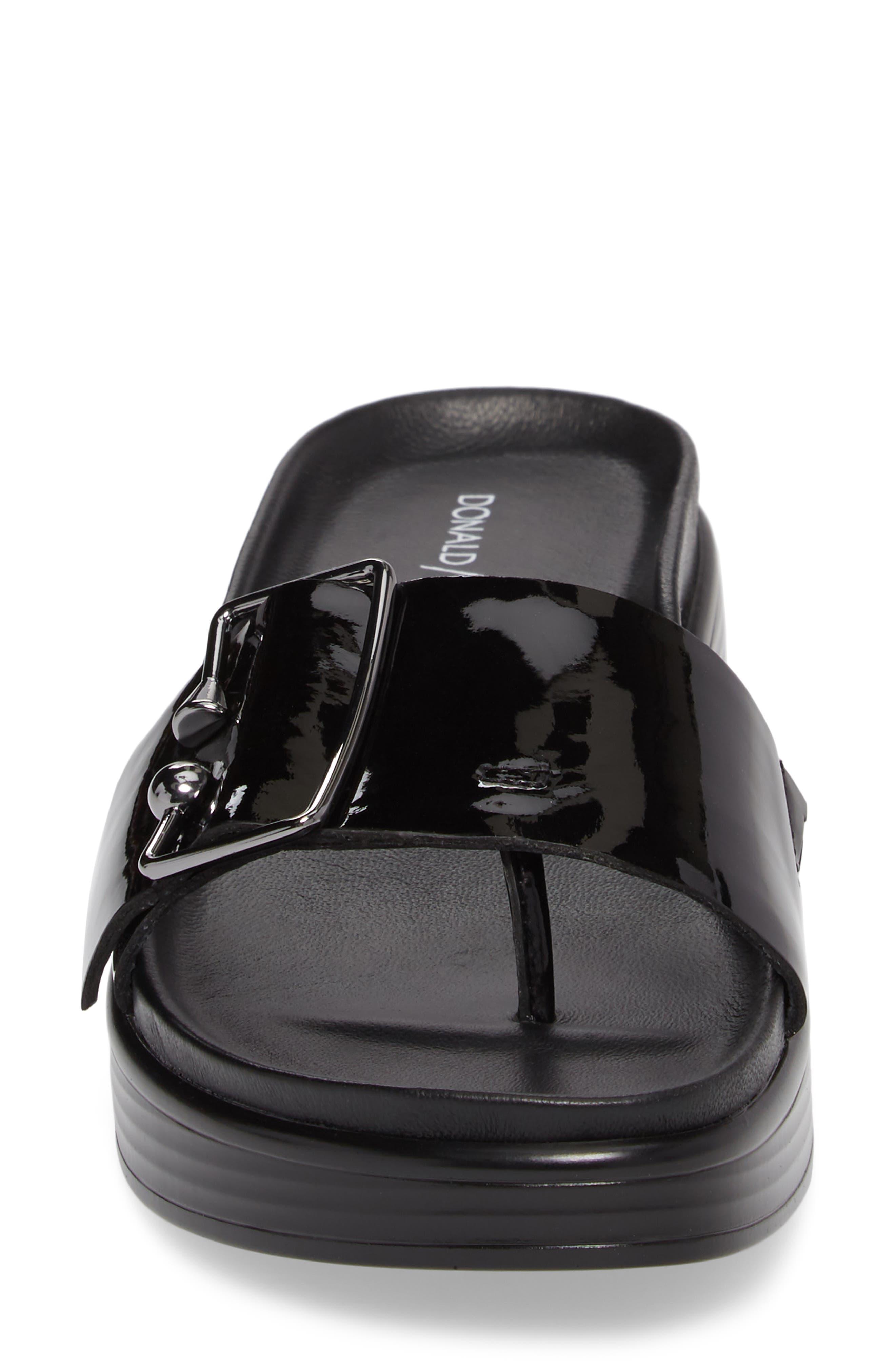 Fara Platform Slide Sandal,                             Alternate thumbnail 4, color,                             001