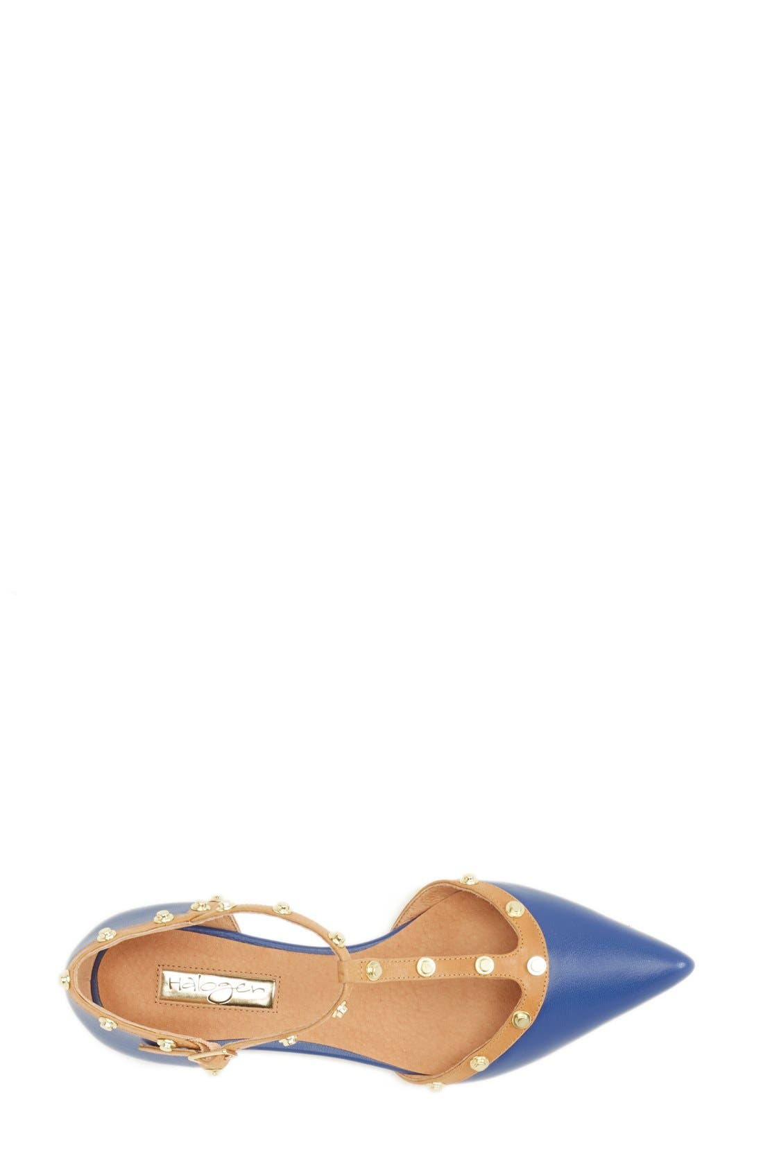 'Olson' Pointy Toe Studded T-Strap Flat,                             Alternate thumbnail 44, color,