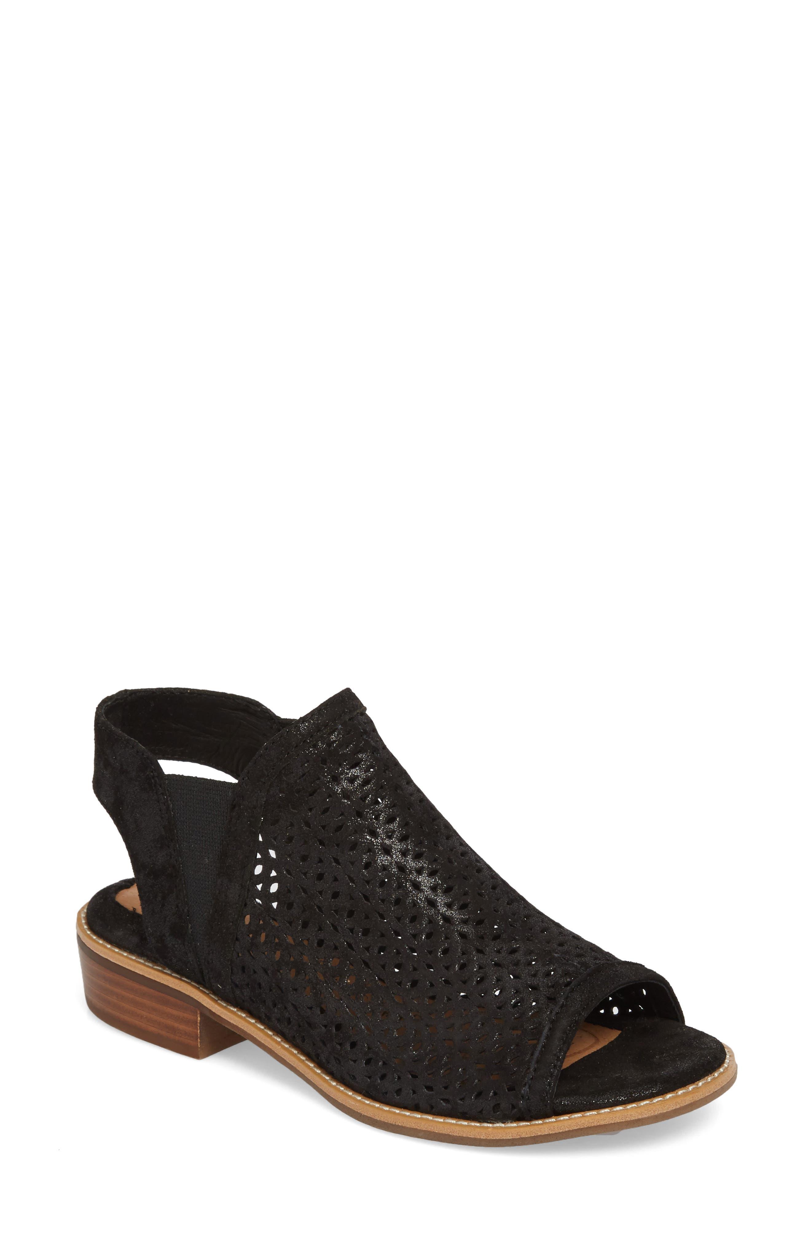 Nalda Sandal,                         Main,                         color, BLACK LEATHER