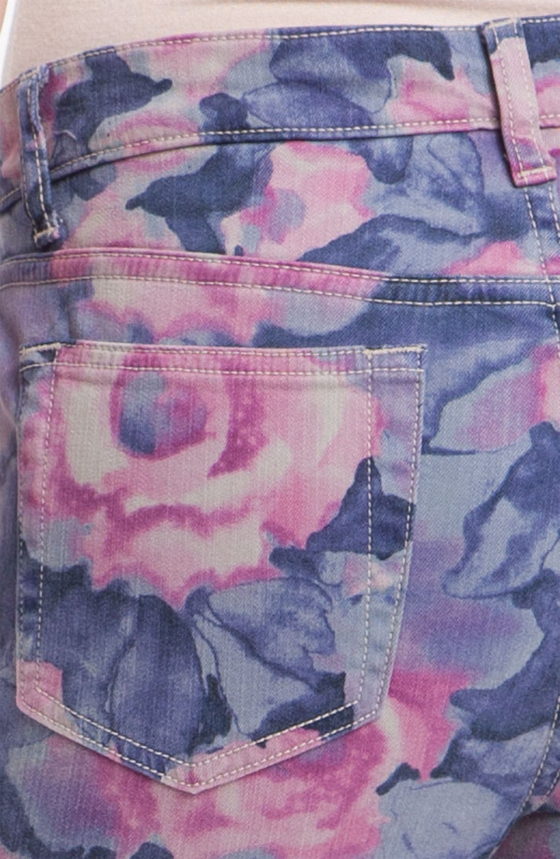 'The High Water' Print Crop Skinny Jeans,                             Alternate thumbnail 2, color,                             400