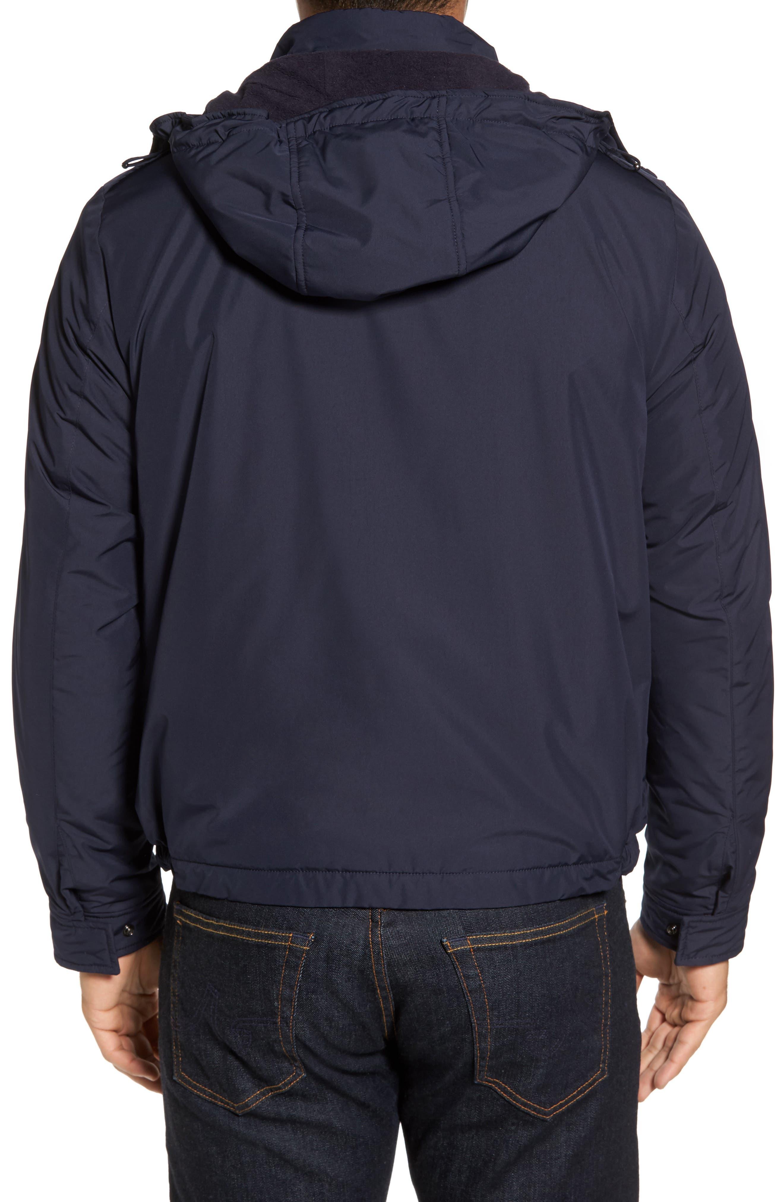 Paul&Shark Fleece Lined Hooded Jacket,                             Alternate thumbnail 2, color,                             400
