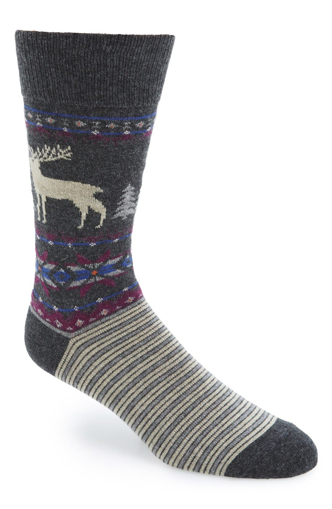 'Reindeer' Socks, Main, color, 010