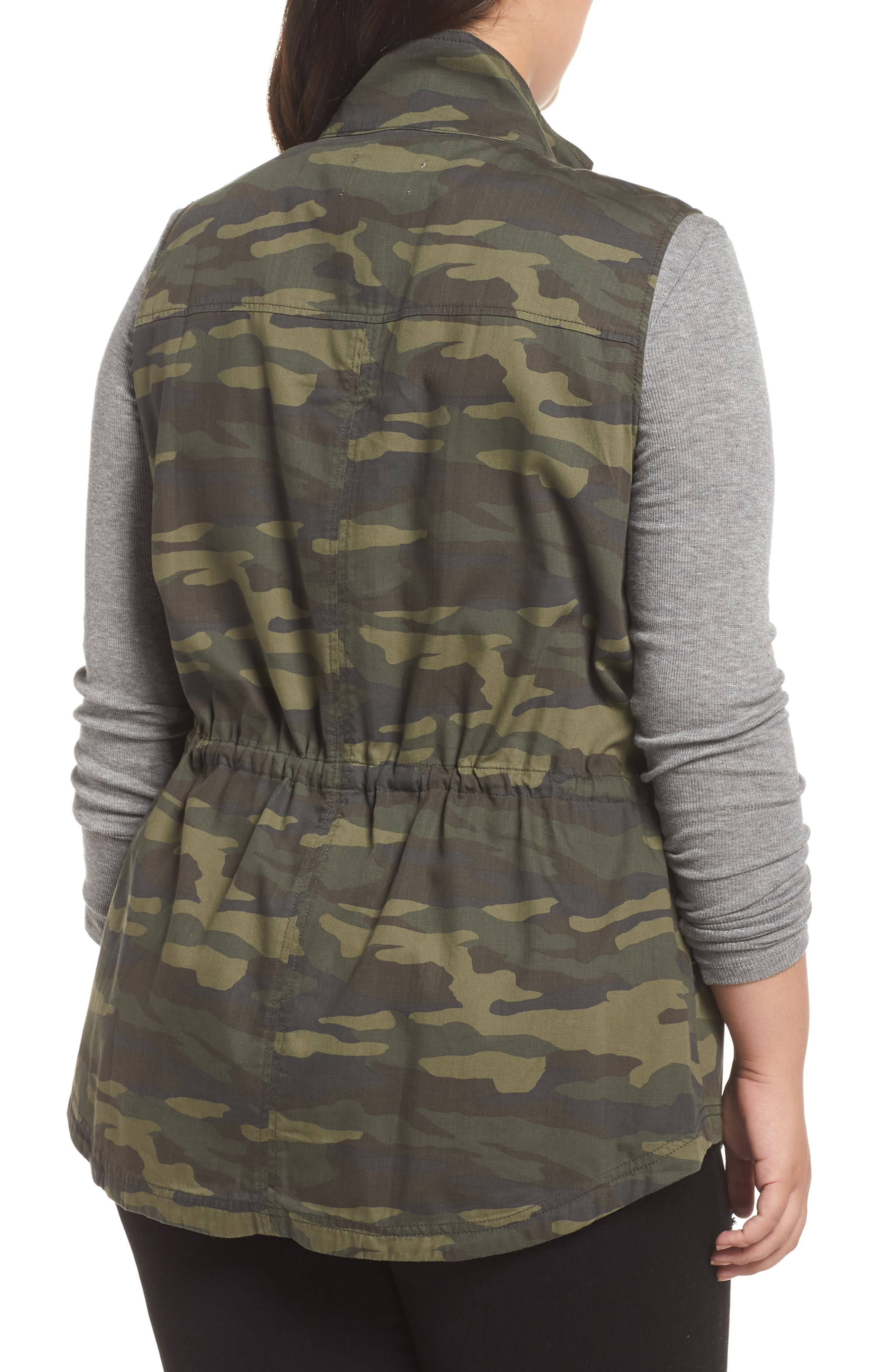 Utility Vest,                             Alternate thumbnail 2, color,                             OLIVE LG CAMO PRT