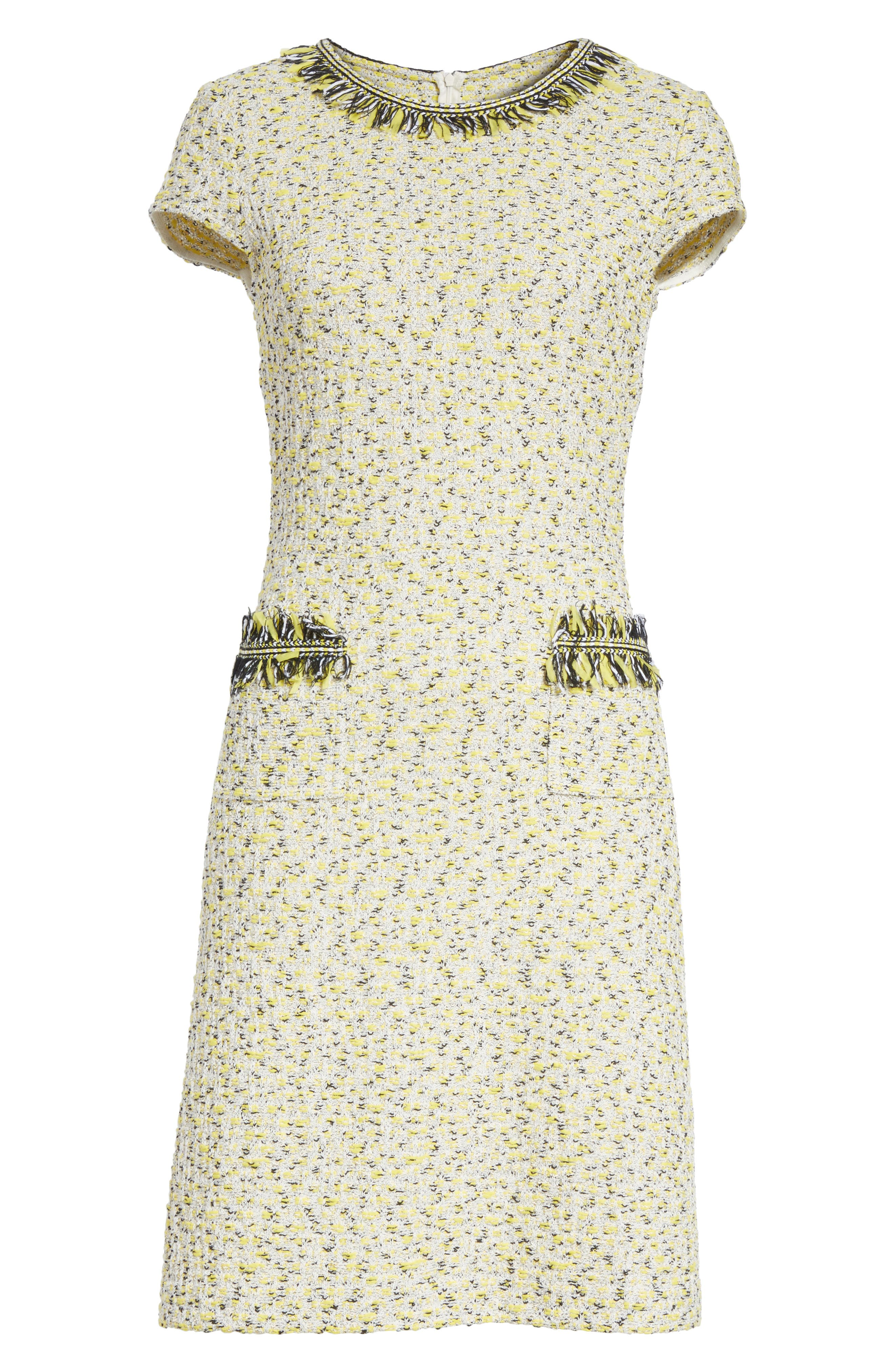 Romee Tweed Dress,                             Alternate thumbnail 6, color,
