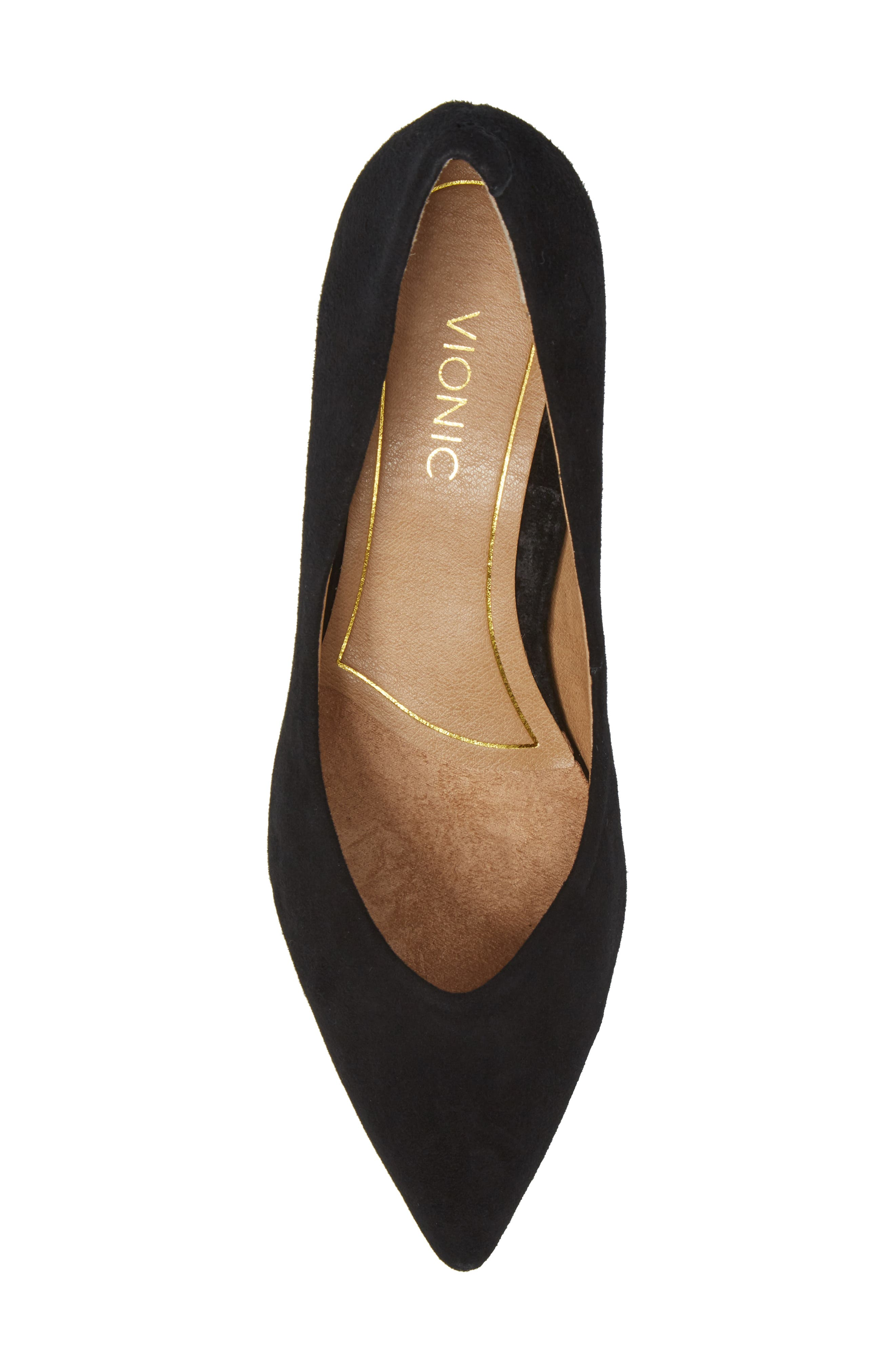 Josie Kitten Heel Pump,                             Alternate thumbnail 5, color,                             BLACK SUEDE