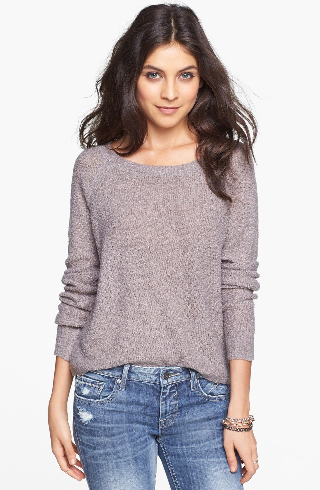 'Grunge' Textured Sweater,                             Main thumbnail 2, color,