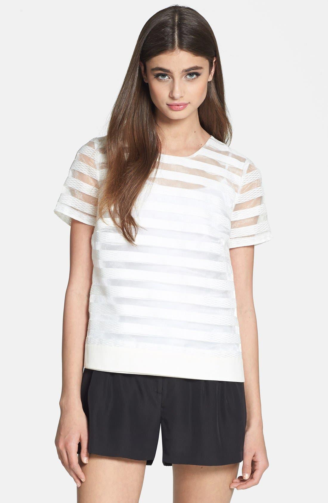1.STATE Stripe Organza Tee, Main, color, 100