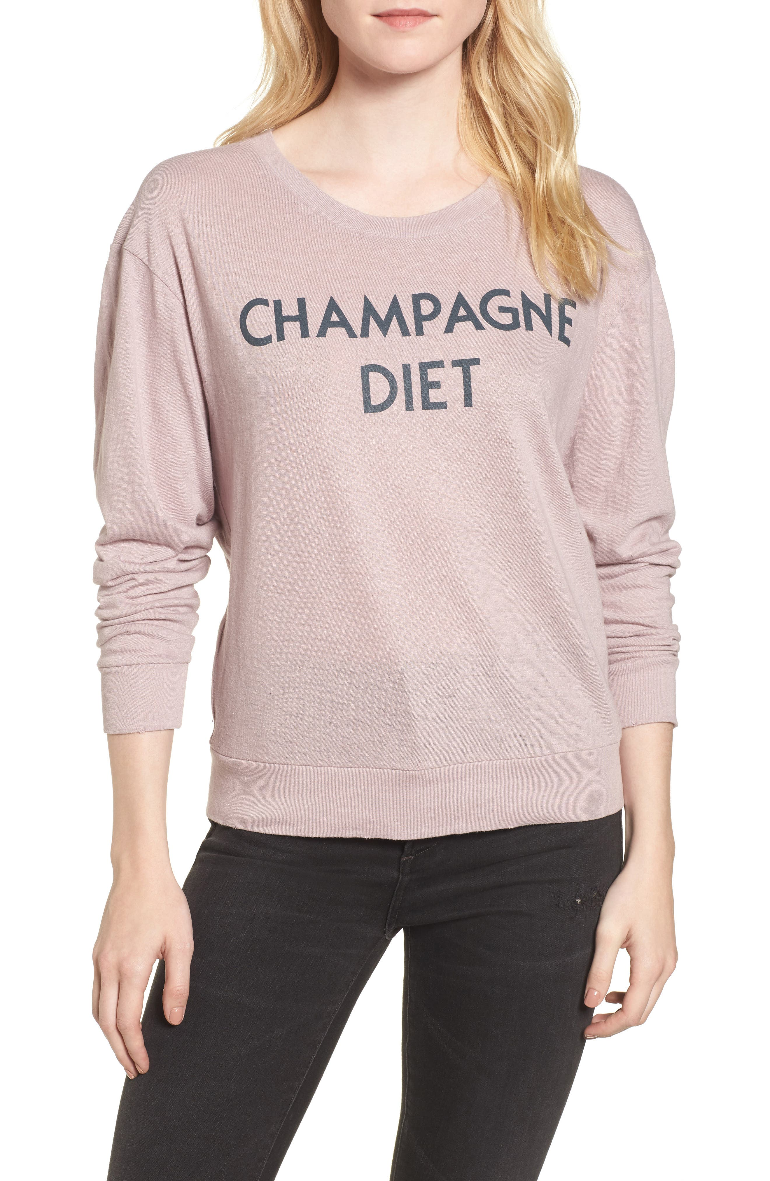 Champagne Diet Sweatshirt,                             Main thumbnail 1, color,                             650