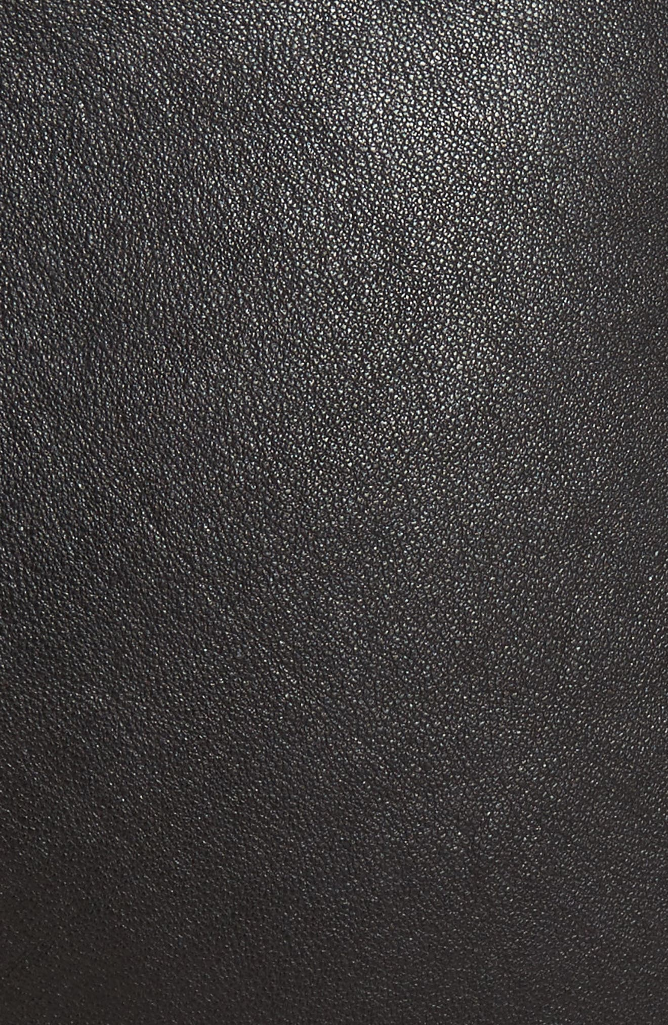 Leather Leggings,                             Alternate thumbnail 6, color,                             BLACK