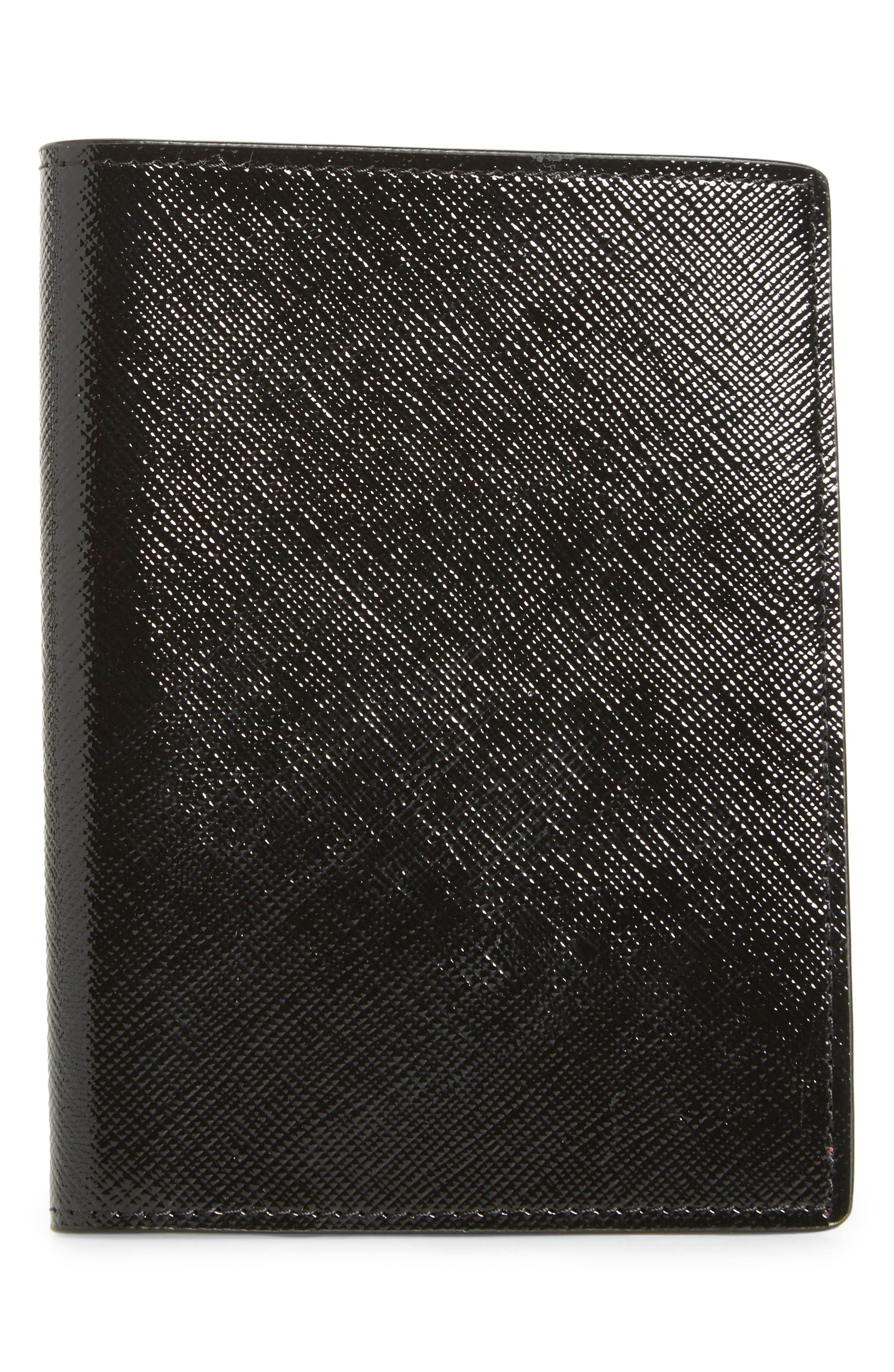 Leather Passport Case,                         Main,                         color, 001
