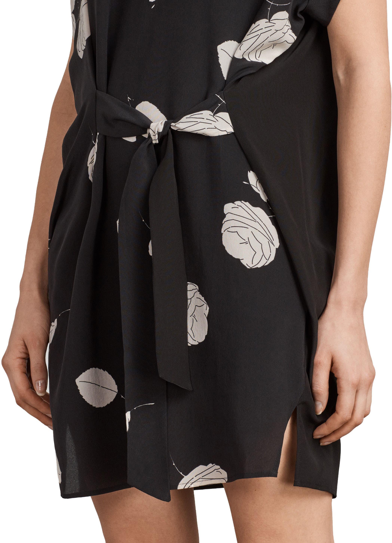 Sonny Rodin Silk Dress,                             Alternate thumbnail 5, color,                             001