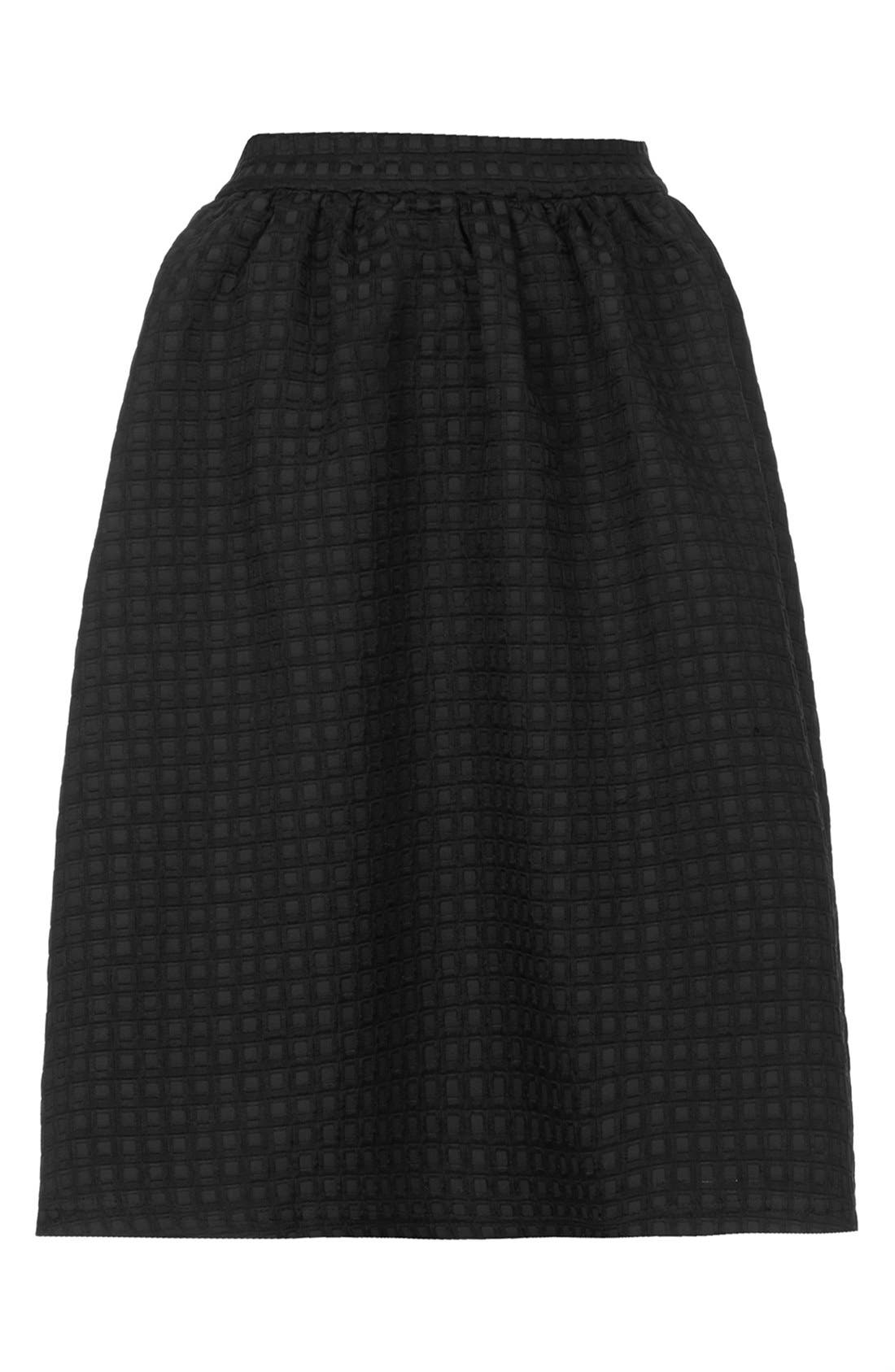 Textured A-Line Skirt,                             Alternate thumbnail 2, color,                             001
