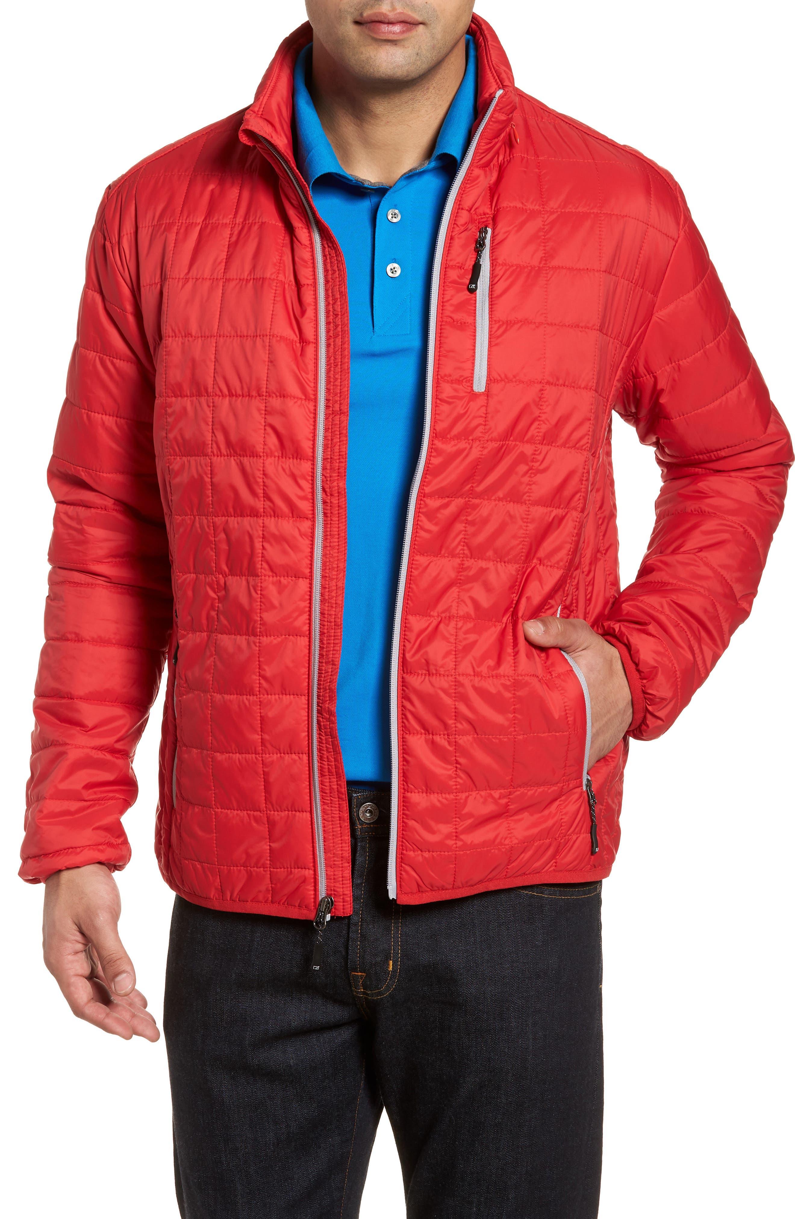 Cutter & Buck Rainier Classic Fit Jacket, Red