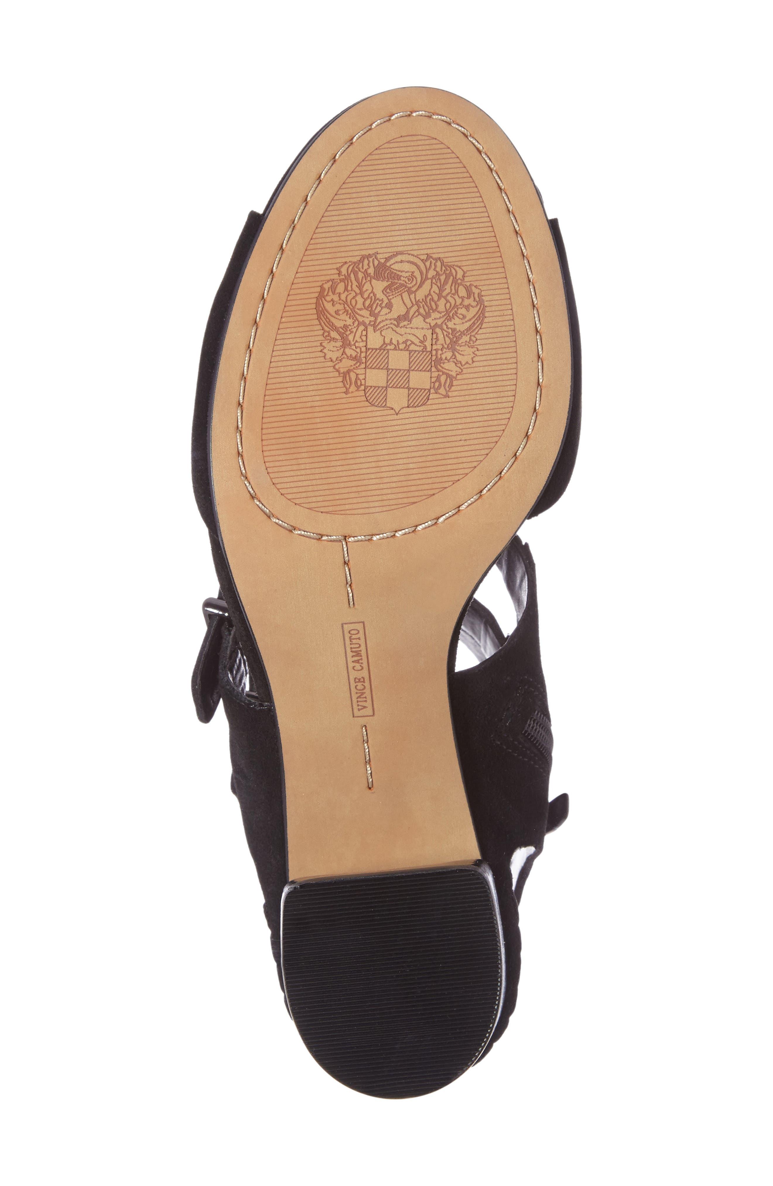 Geriann Strappy Slingback Sandal,                             Alternate thumbnail 4, color,                             001