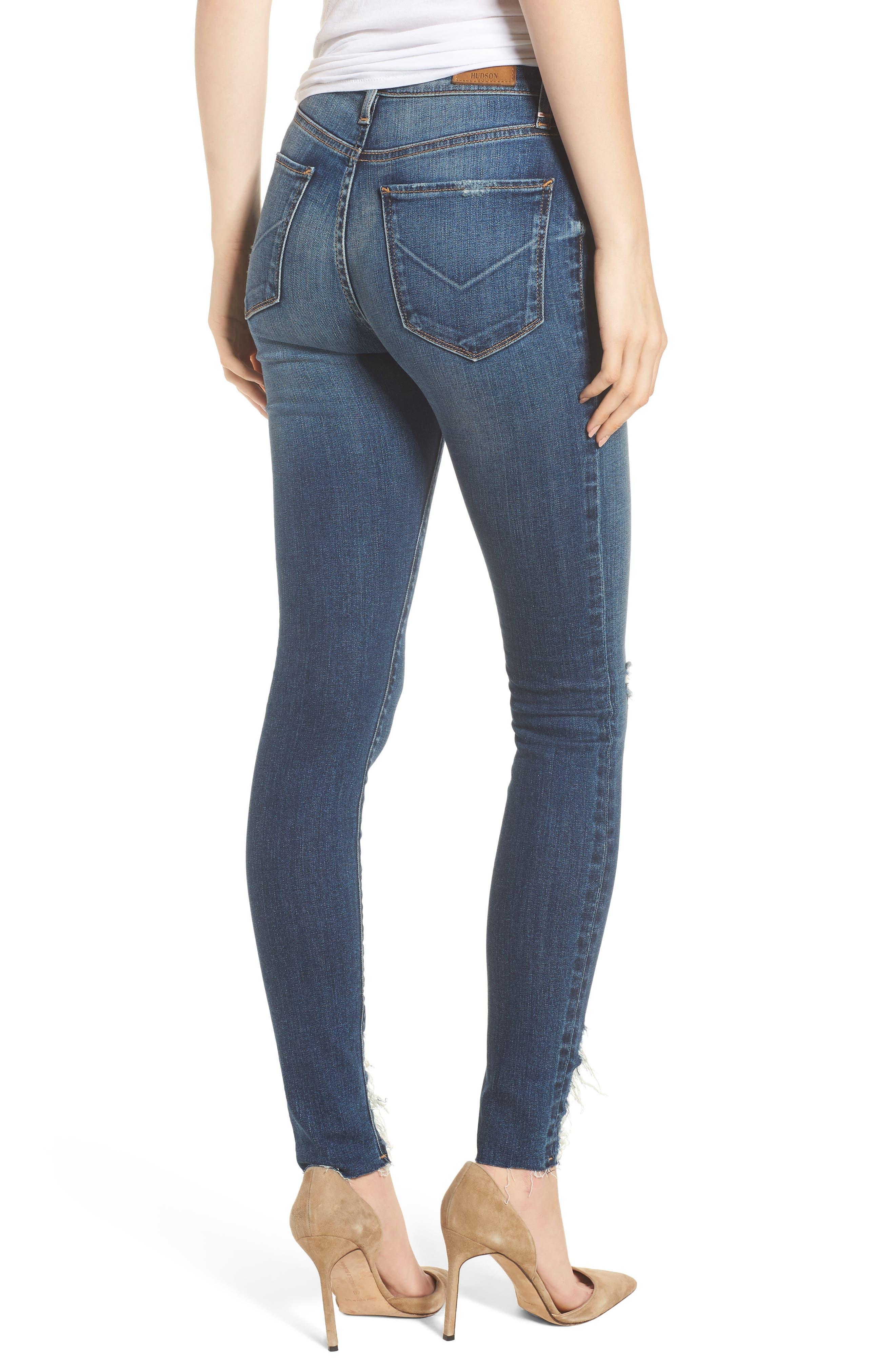 Hudson Barbara High Waist Ankle Skinny Jeans,                             Alternate thumbnail 2, color,                             401