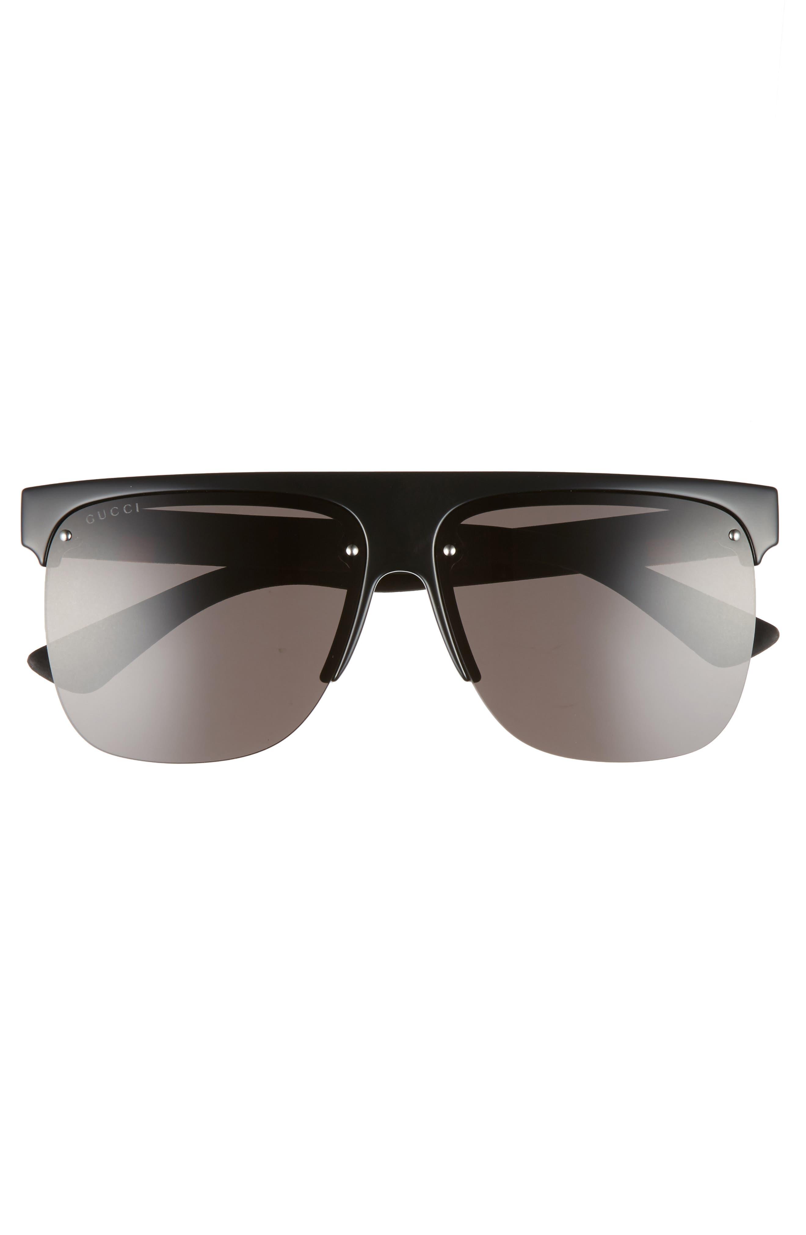 60mm Semi Rimless Polarized Sunglasses,                             Alternate thumbnail 4, color,