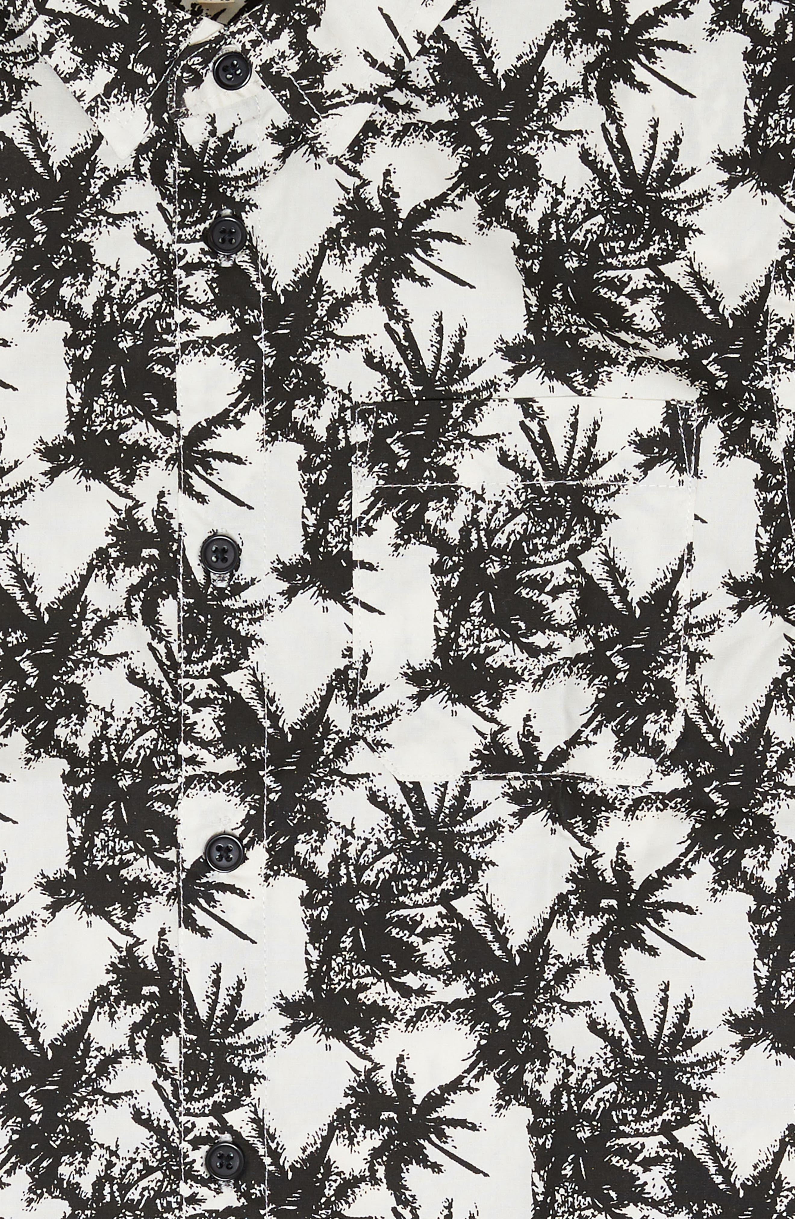 Vintage Palm Tree Woven Shirt,                             Alternate thumbnail 2, color,                             100