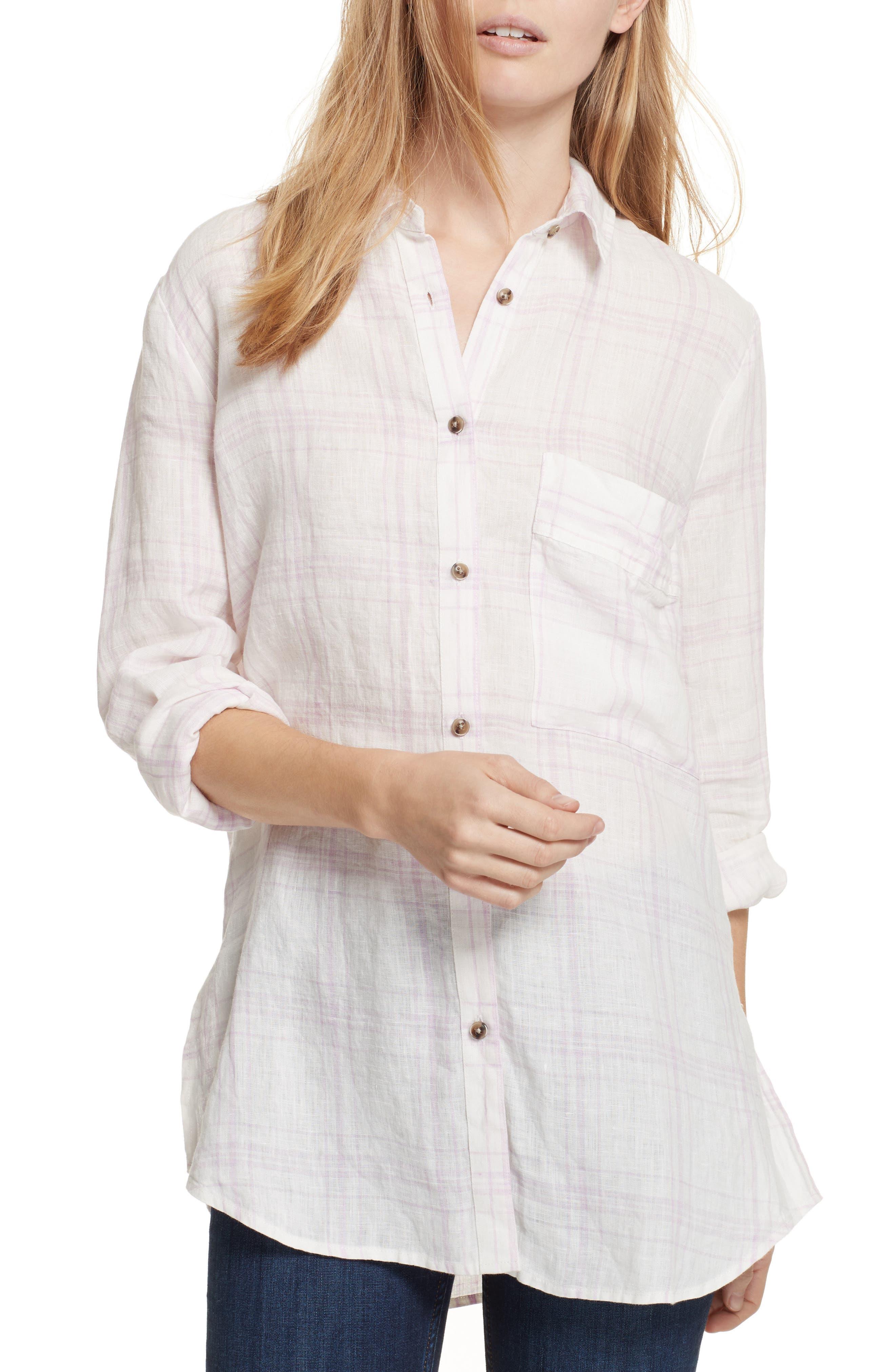 No Limits Plaid Linen Shirt,                         Main,                         color, 535