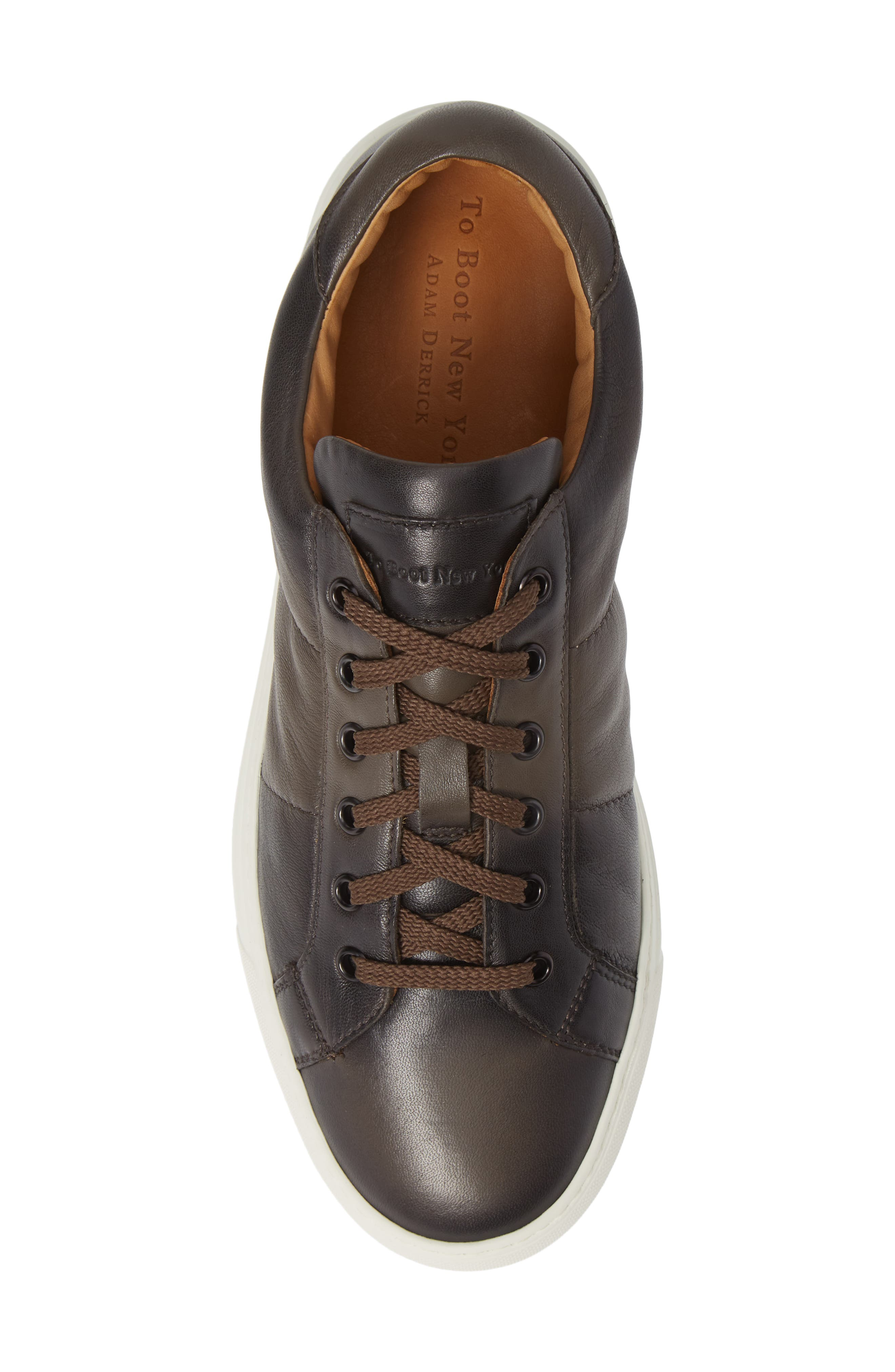 Colton Sneaker,                             Alternate thumbnail 5, color,                             TAUPE GREY LEATHER