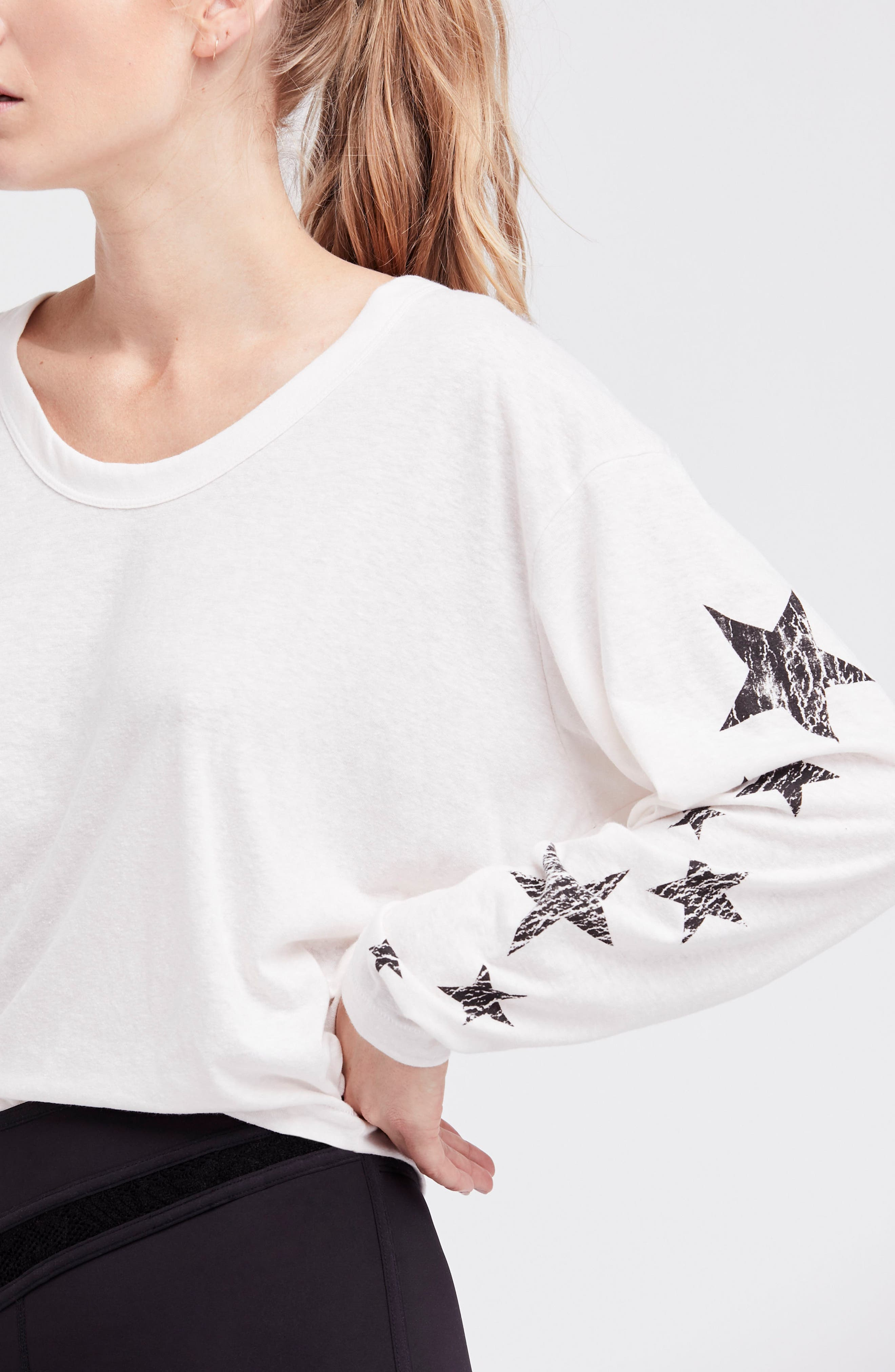 Free People Melrose Star Graphic Top,                             Alternate thumbnail 21, color,