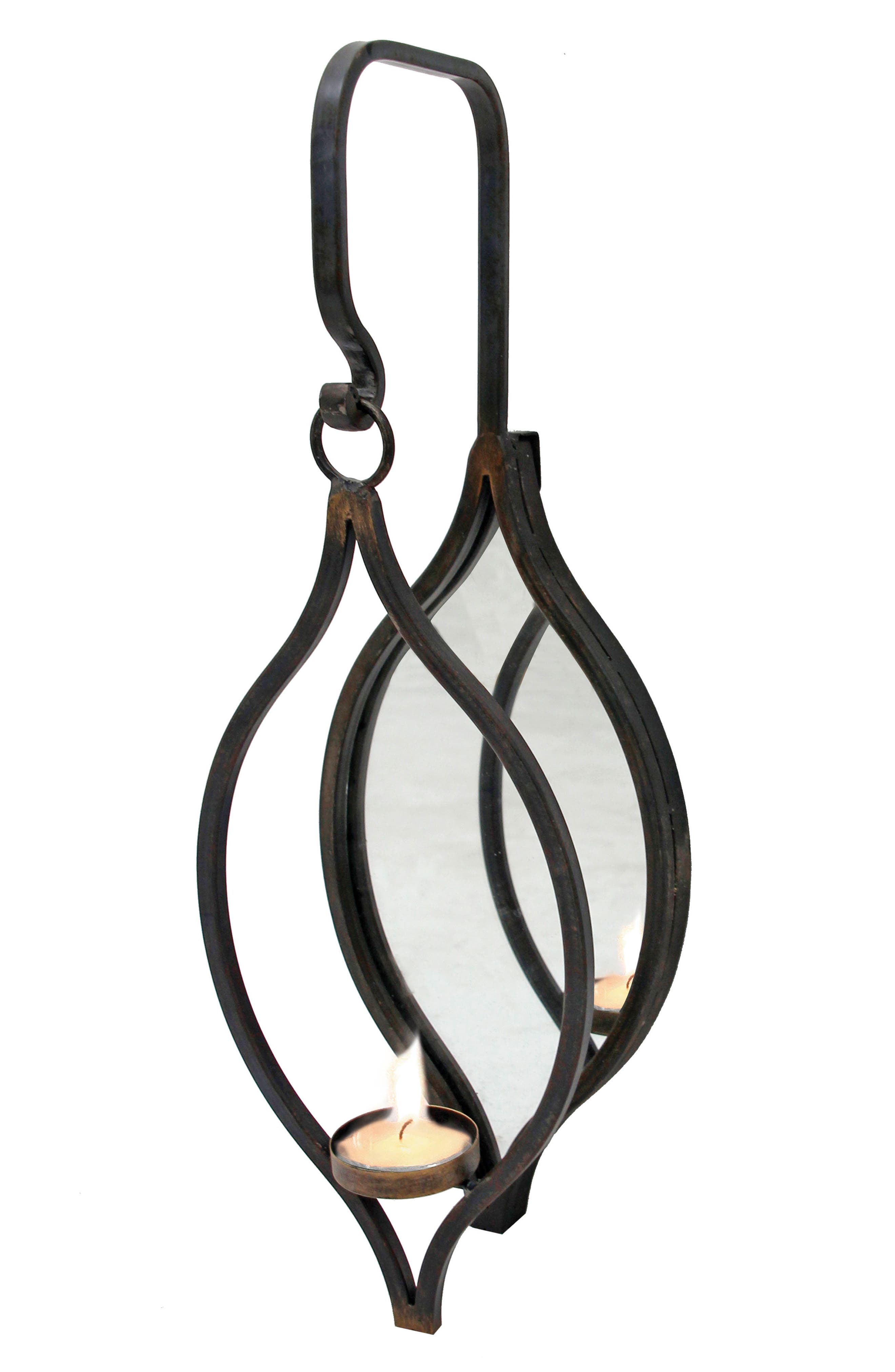 Hanging Tealight Holder,                         Main,                         color, METAL/ GLASS