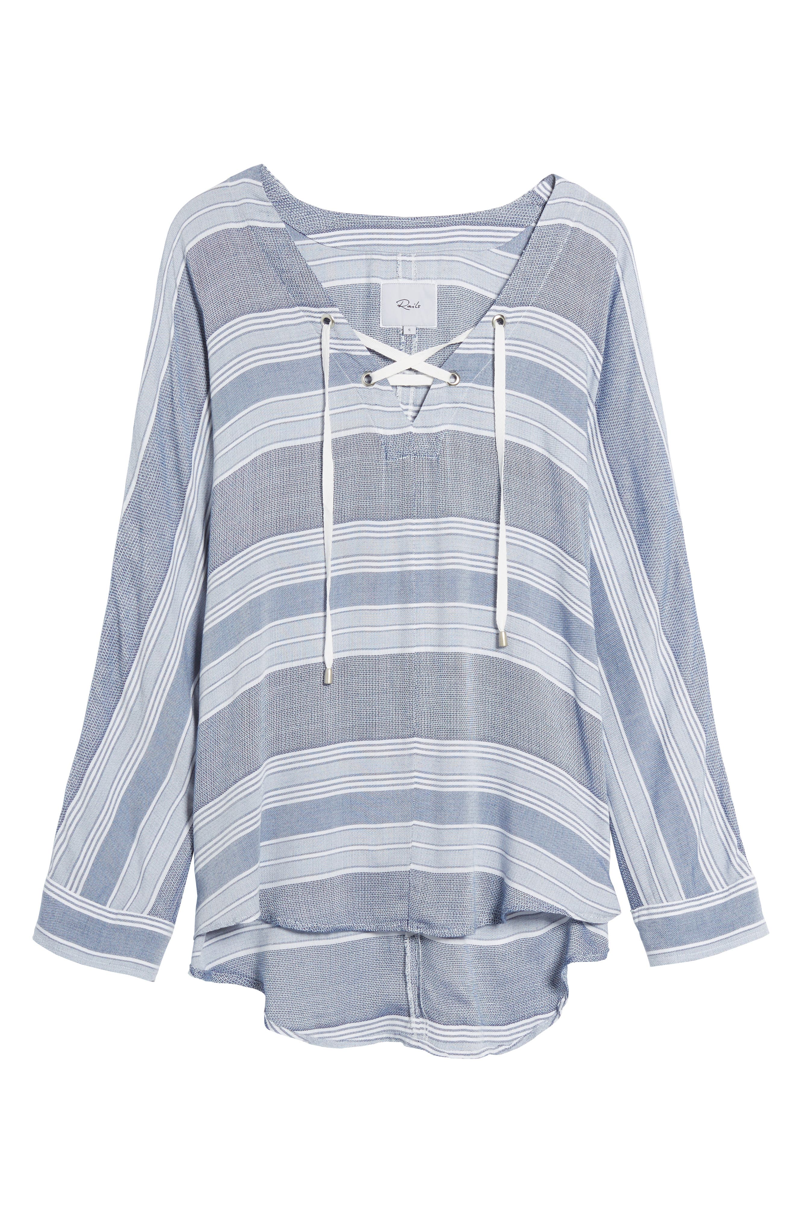 Lily Stripe Drawstring Top,                             Alternate thumbnail 6, color,                             451