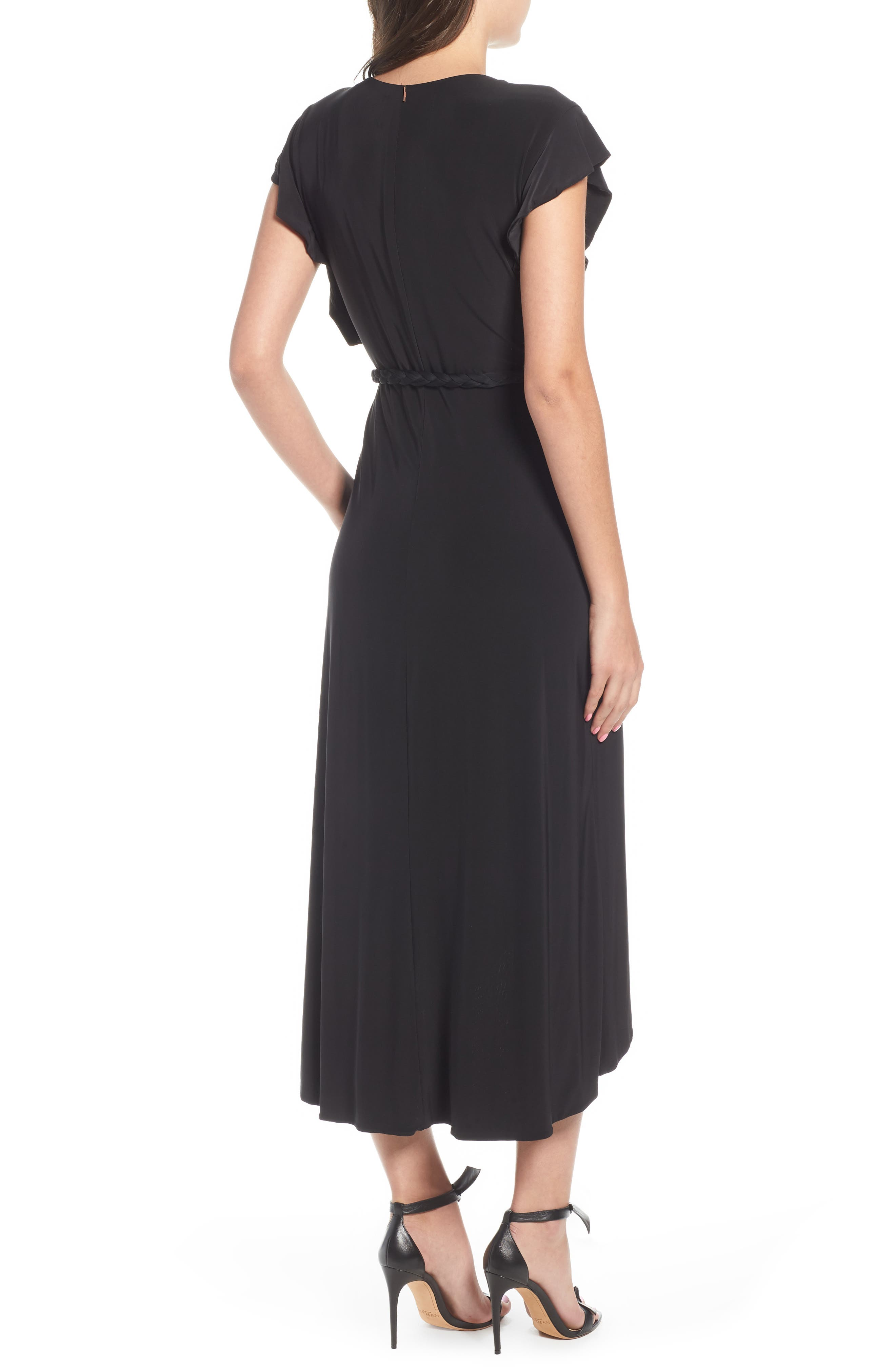 Irina Dress,                             Alternate thumbnail 2, color,                             BLACK