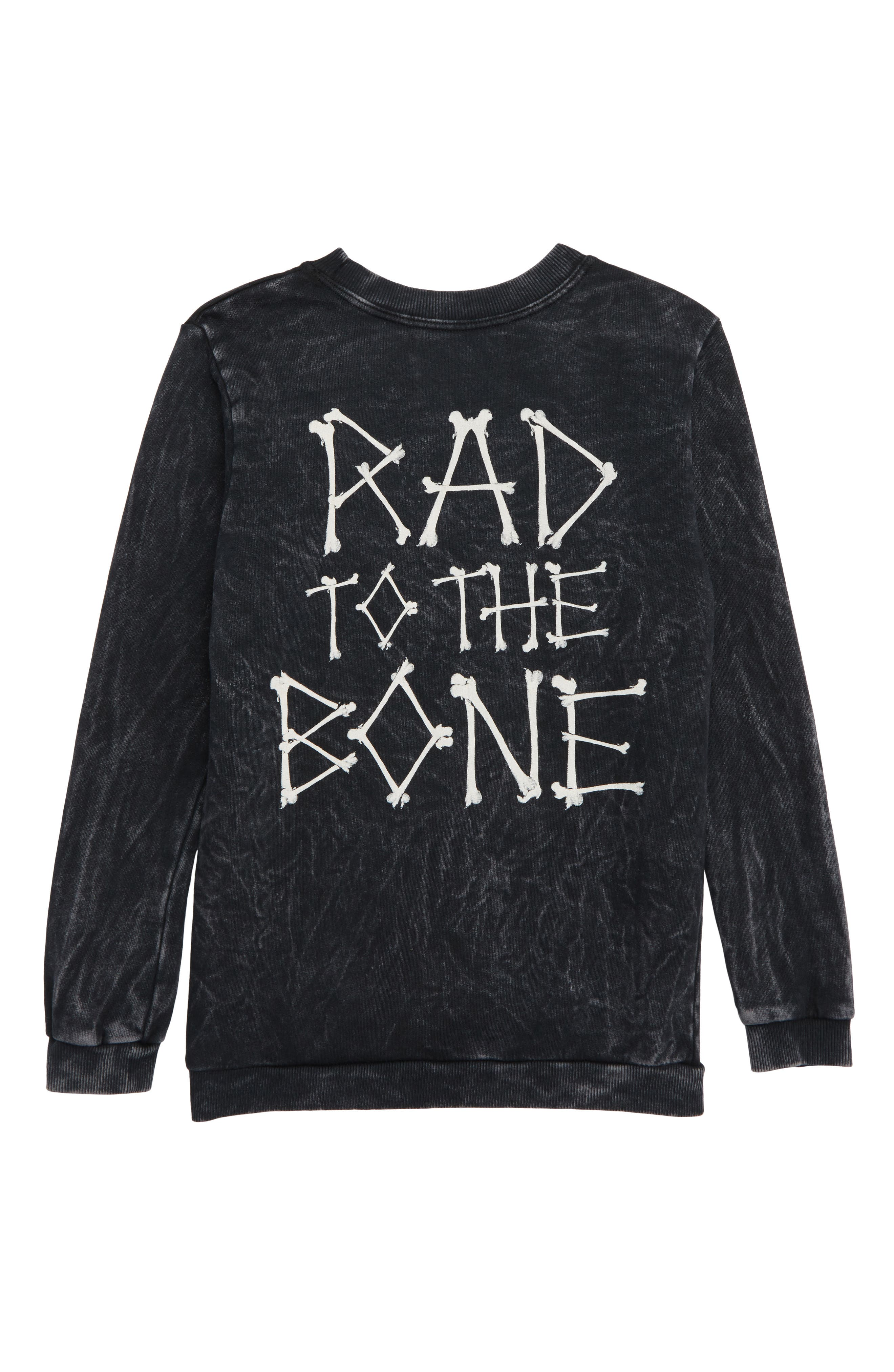 Rad to the Bone Sweatshirt,                             Alternate thumbnail 2, color,                             MINERAL BLACK