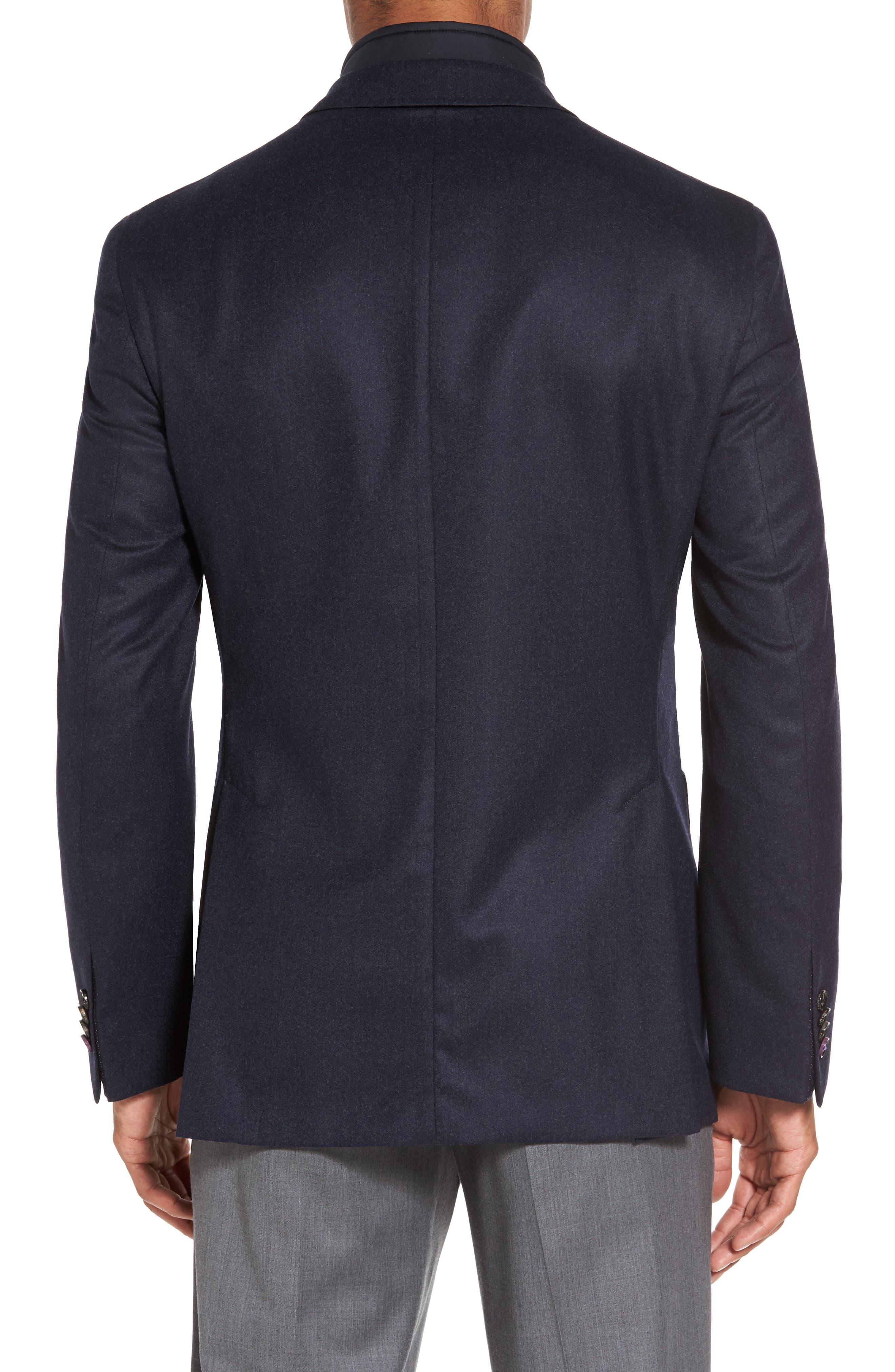 Tucker Trim Fit Plaid Wool Sport Coat,                             Alternate thumbnail 2, color,                             400