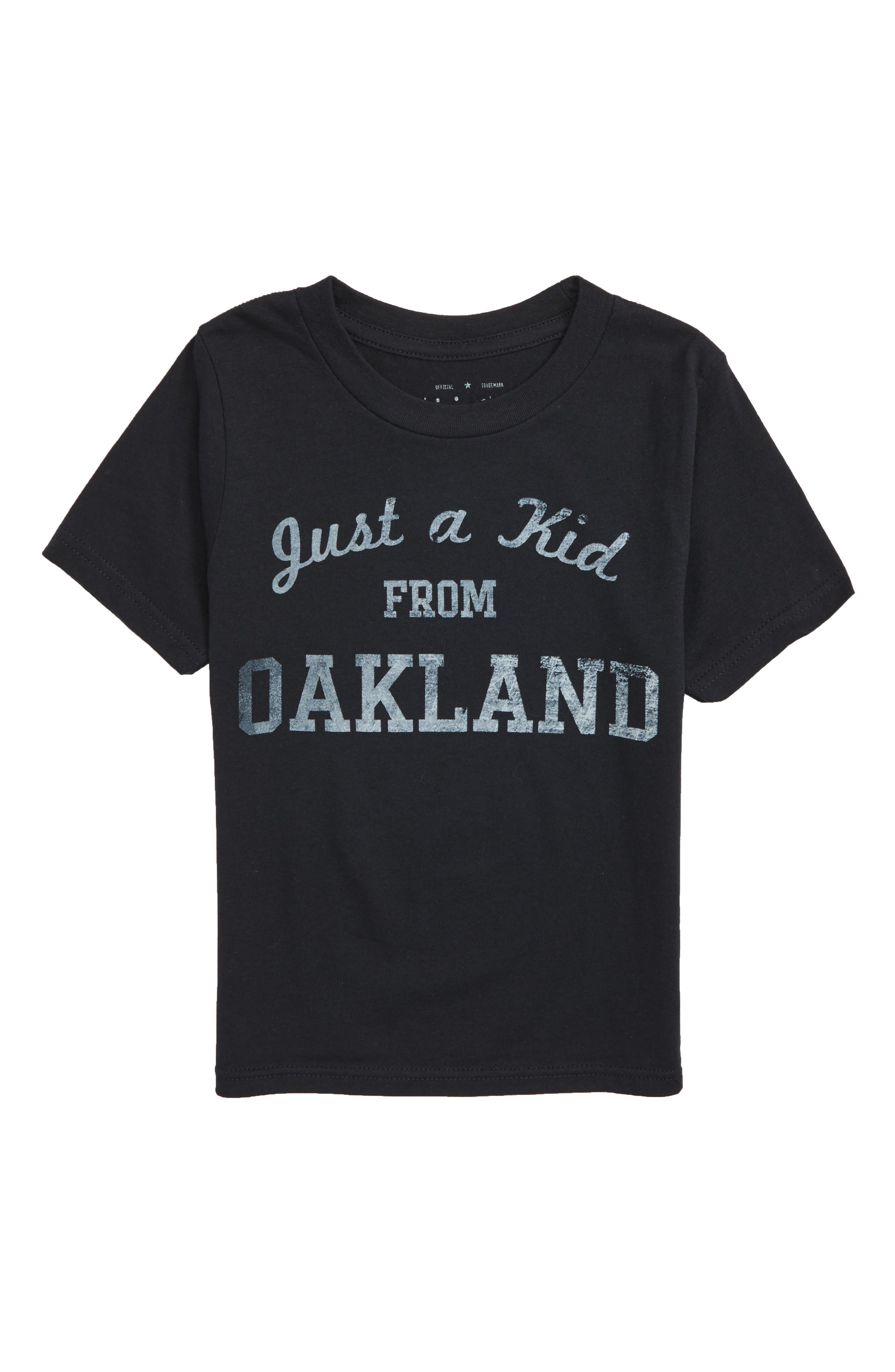 Just a Kid from Oakland Graphic T-Shirt,                             Main thumbnail 1, color,                             001