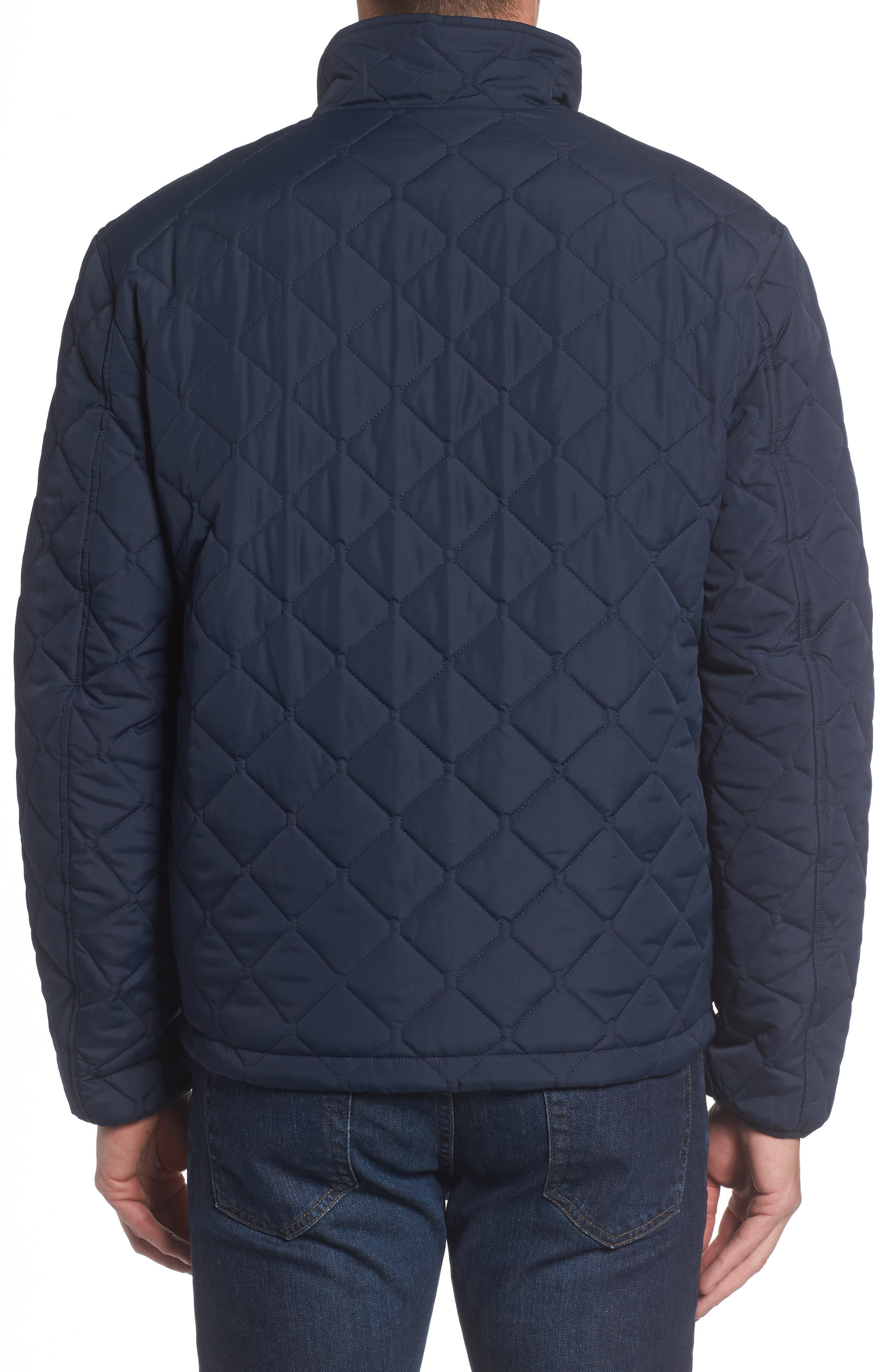 Faux Shearling Lined Quilted Jacket,                             Alternate thumbnail 4, color,