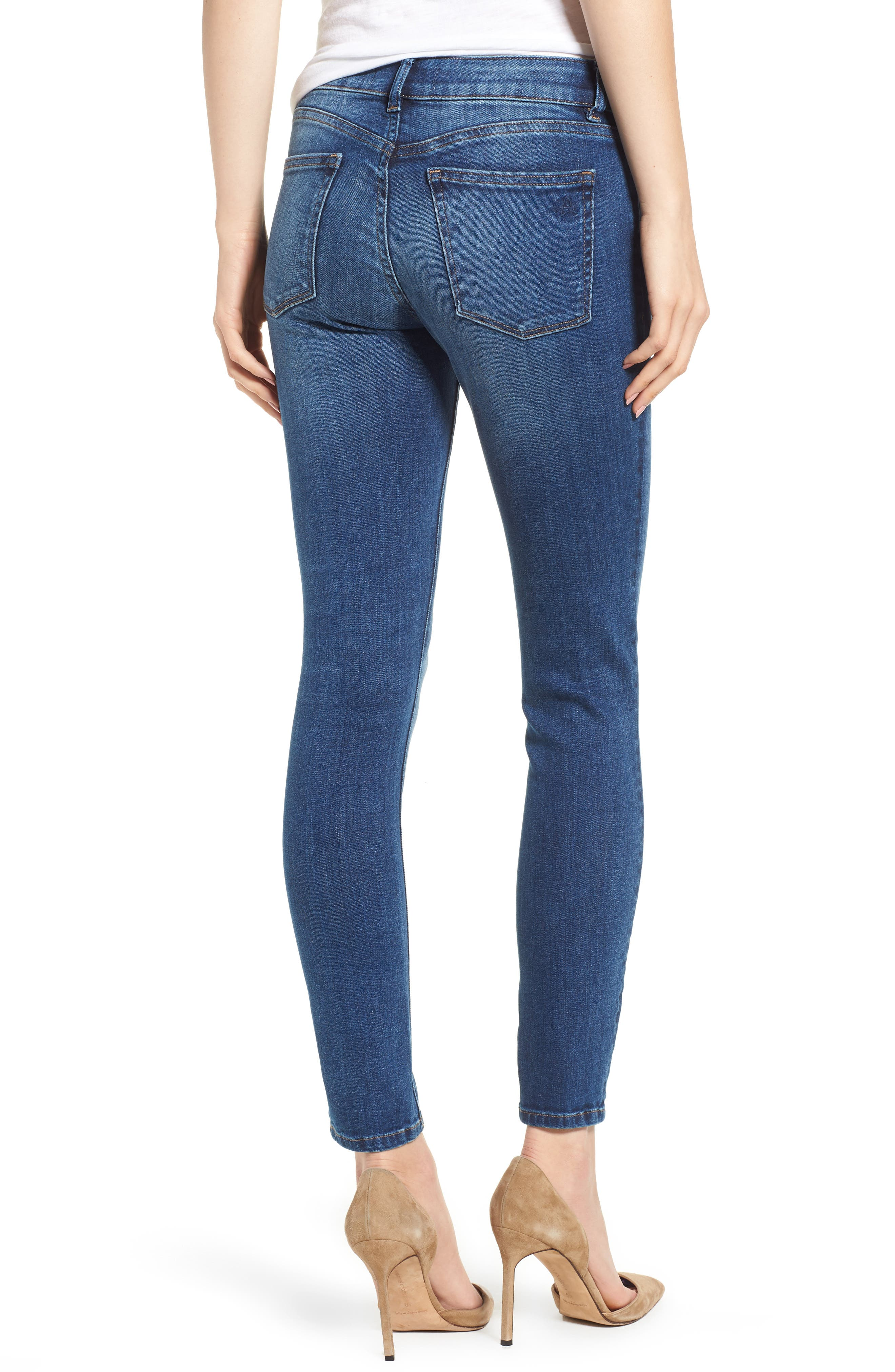 DL1961,                             Florence Midrise Instasculpt Ankle Skinny Jeans,                             Alternate thumbnail 2, color,                             SABINE