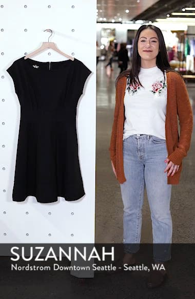 ponte fiorella fit & flare dress, sales video thumbnail