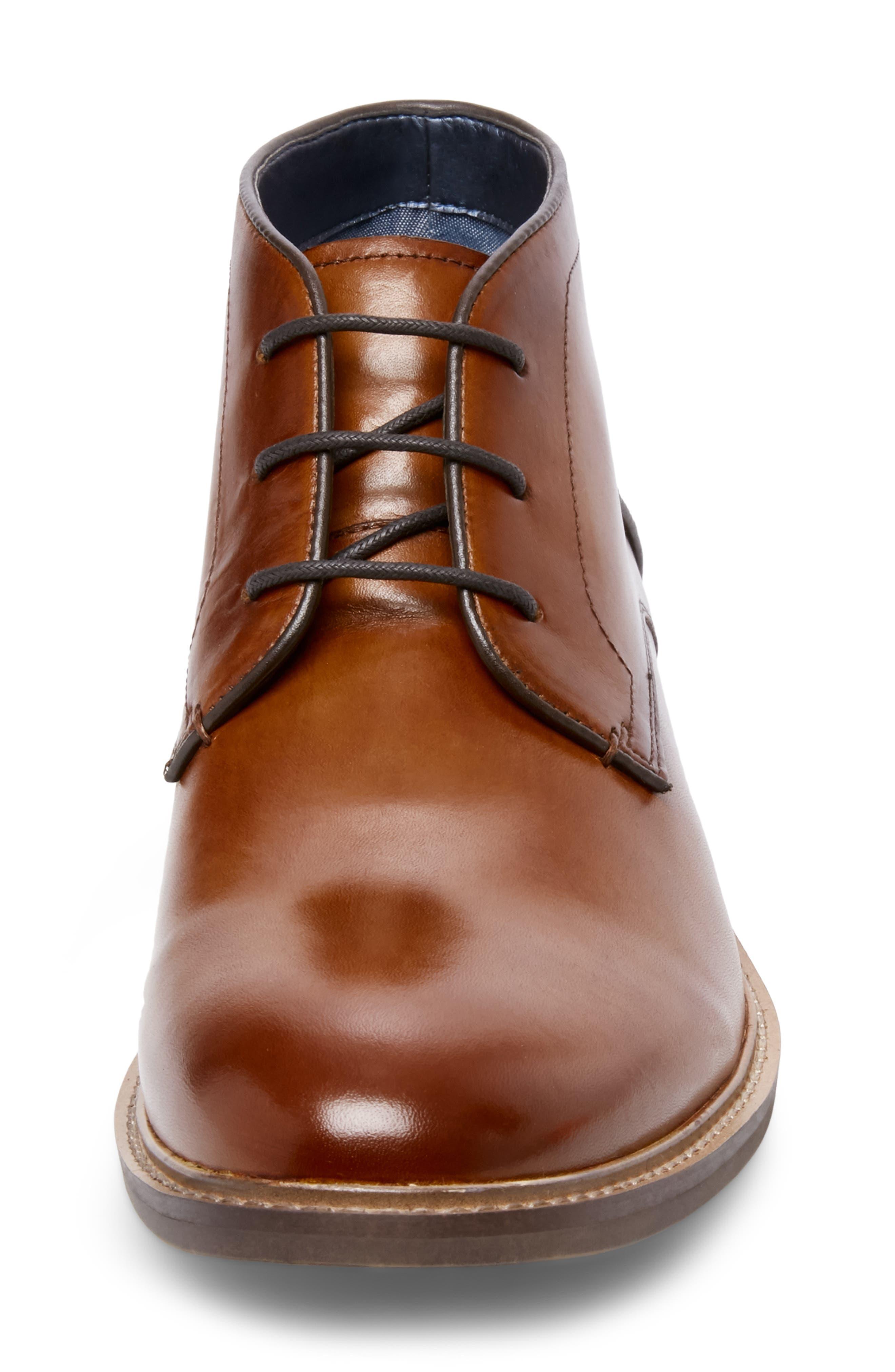 Backster Plain Toe Chukka Boot,                             Alternate thumbnail 4, color,                             COGNAC LEATHER