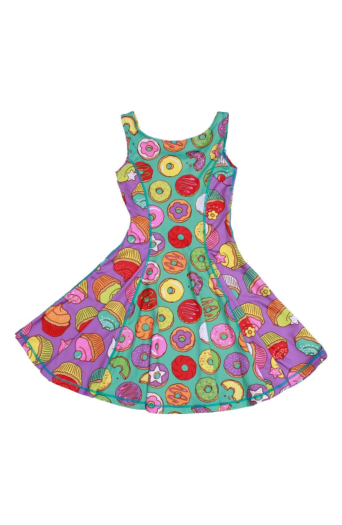 Flow Mixed Print Dress,                             Main thumbnail 9, color,