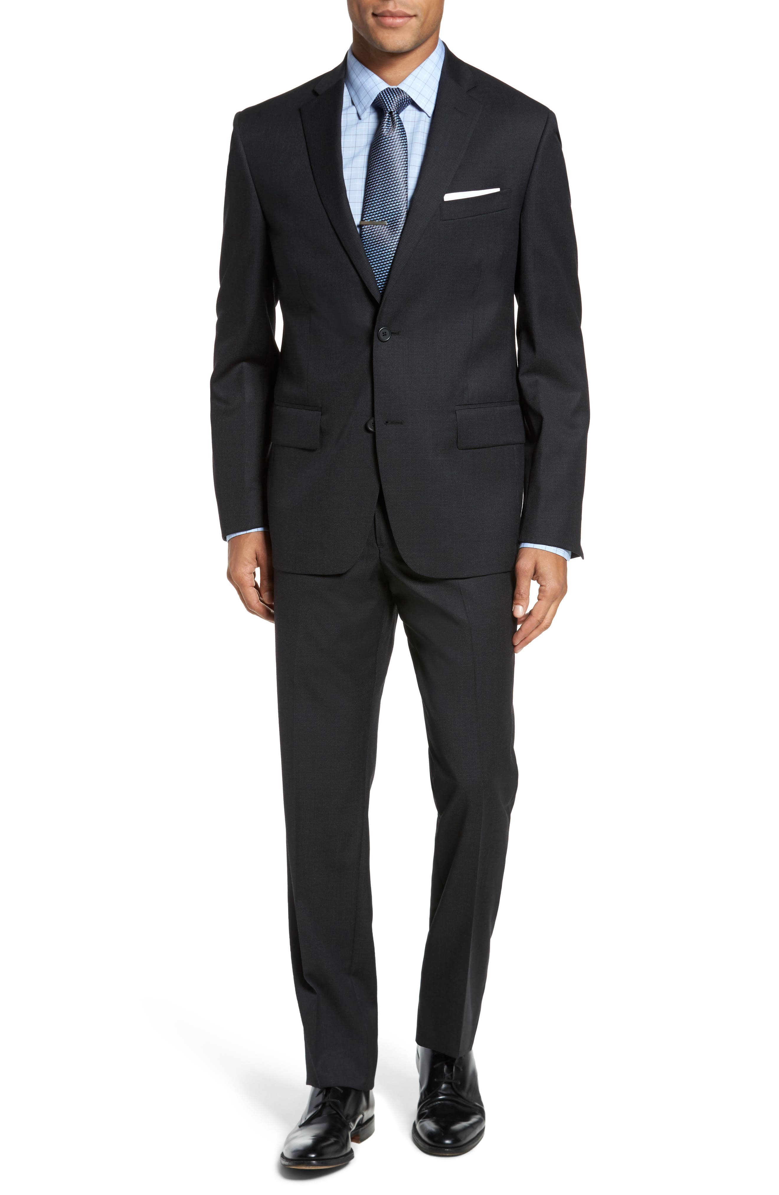 Classic Fit Check Wool Suit,                             Main thumbnail 1, color,