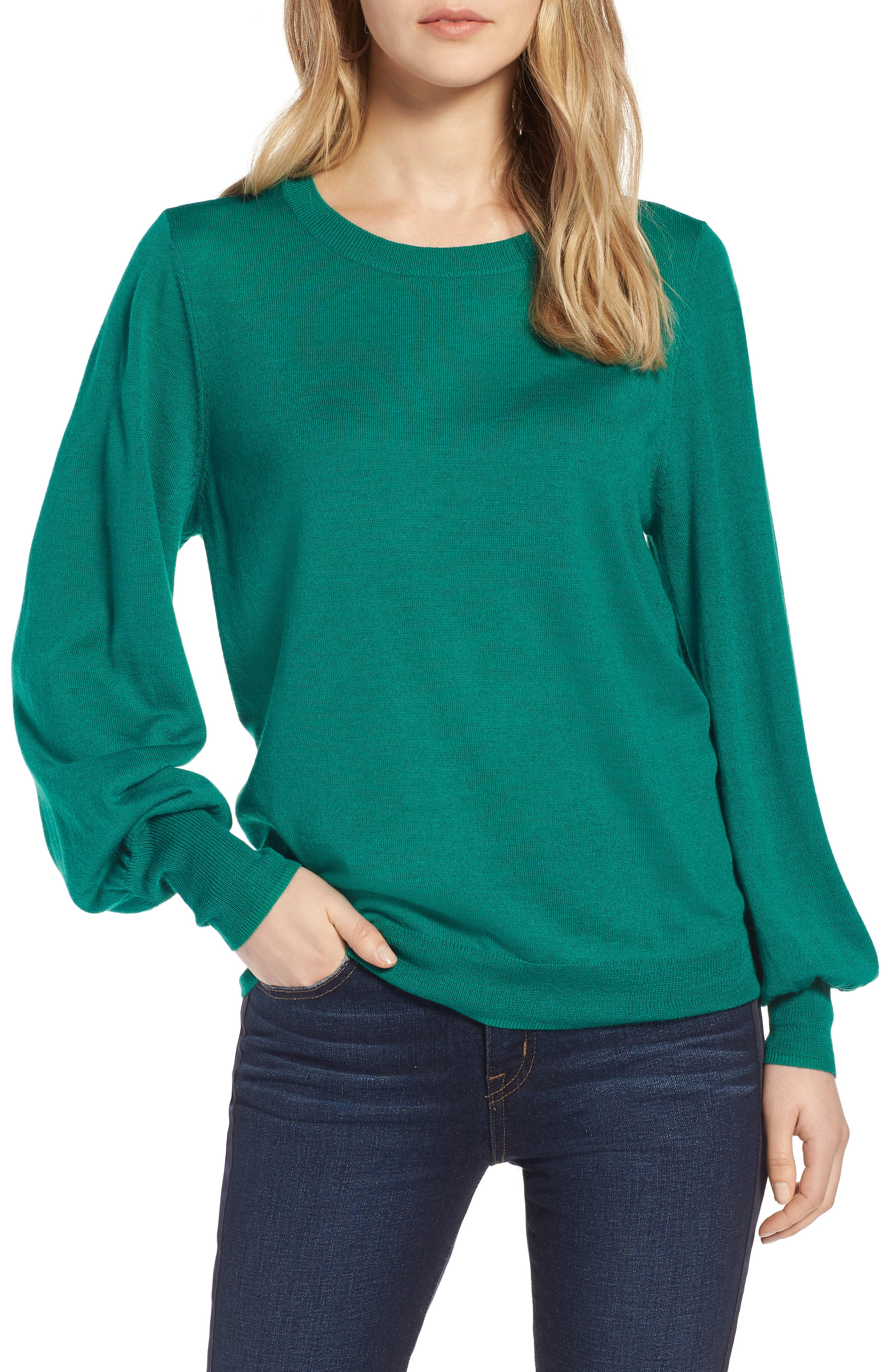 Puff Sleeve Sweater,                             Main thumbnail 4, color,
