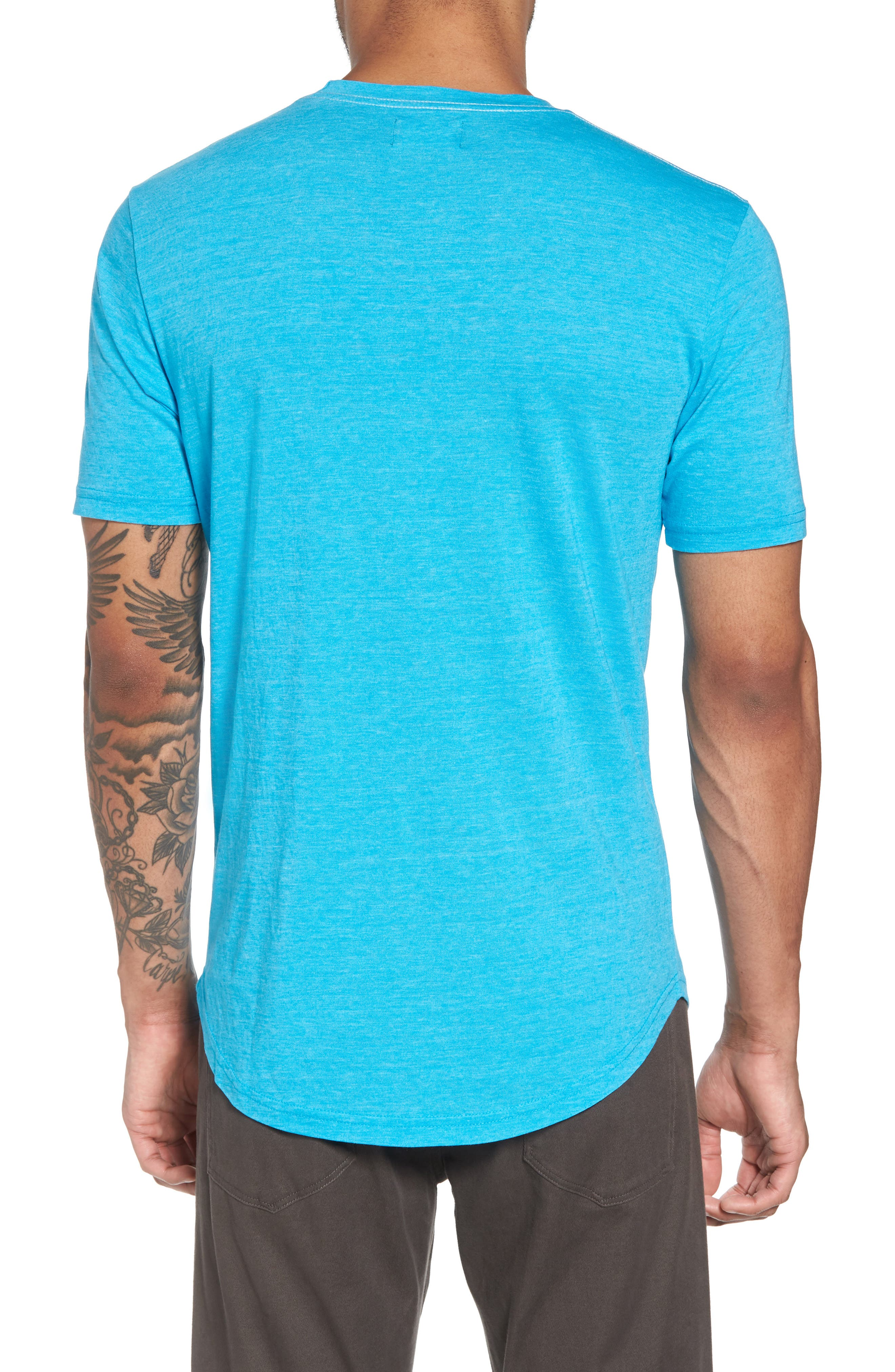 Scallop Triblend Crewneck T-Shirt,                             Alternate thumbnail 32, color,
