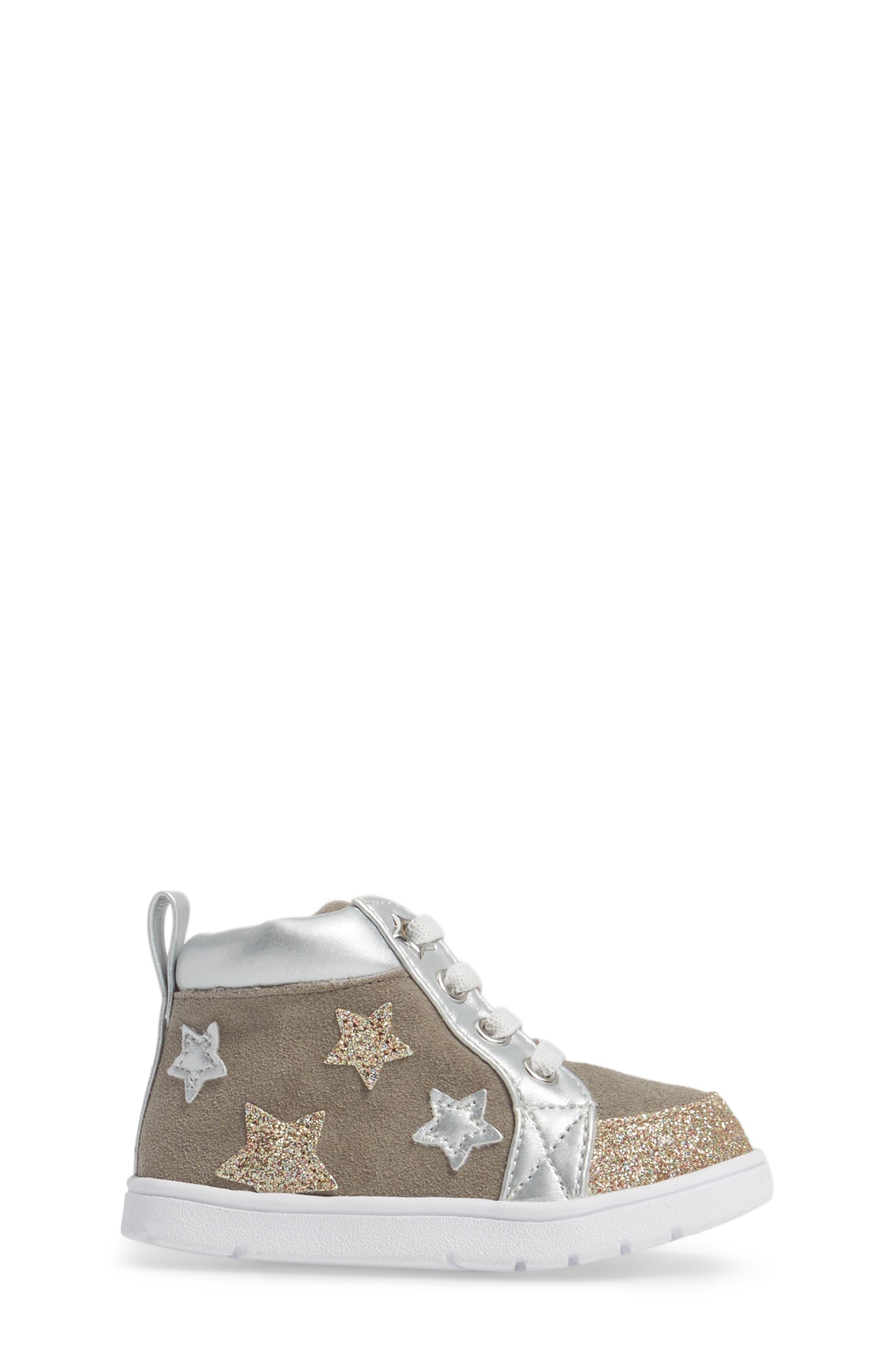 Diantha Star Appliqué High Top Sneaker,                             Alternate thumbnail 3, color,                             020