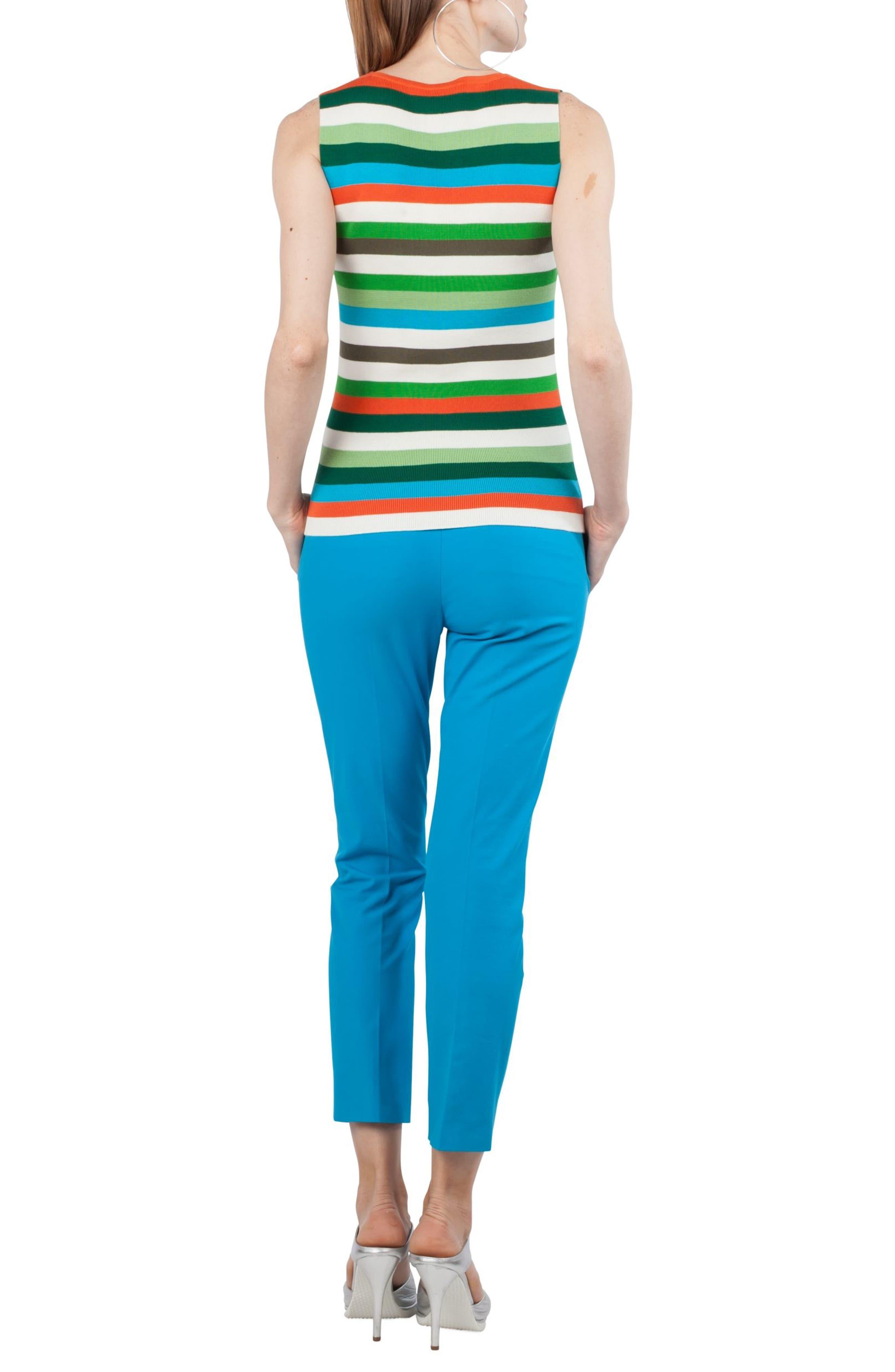 Multicolor Stripe Knit Tank,                             Alternate thumbnail 2, color,                             461
