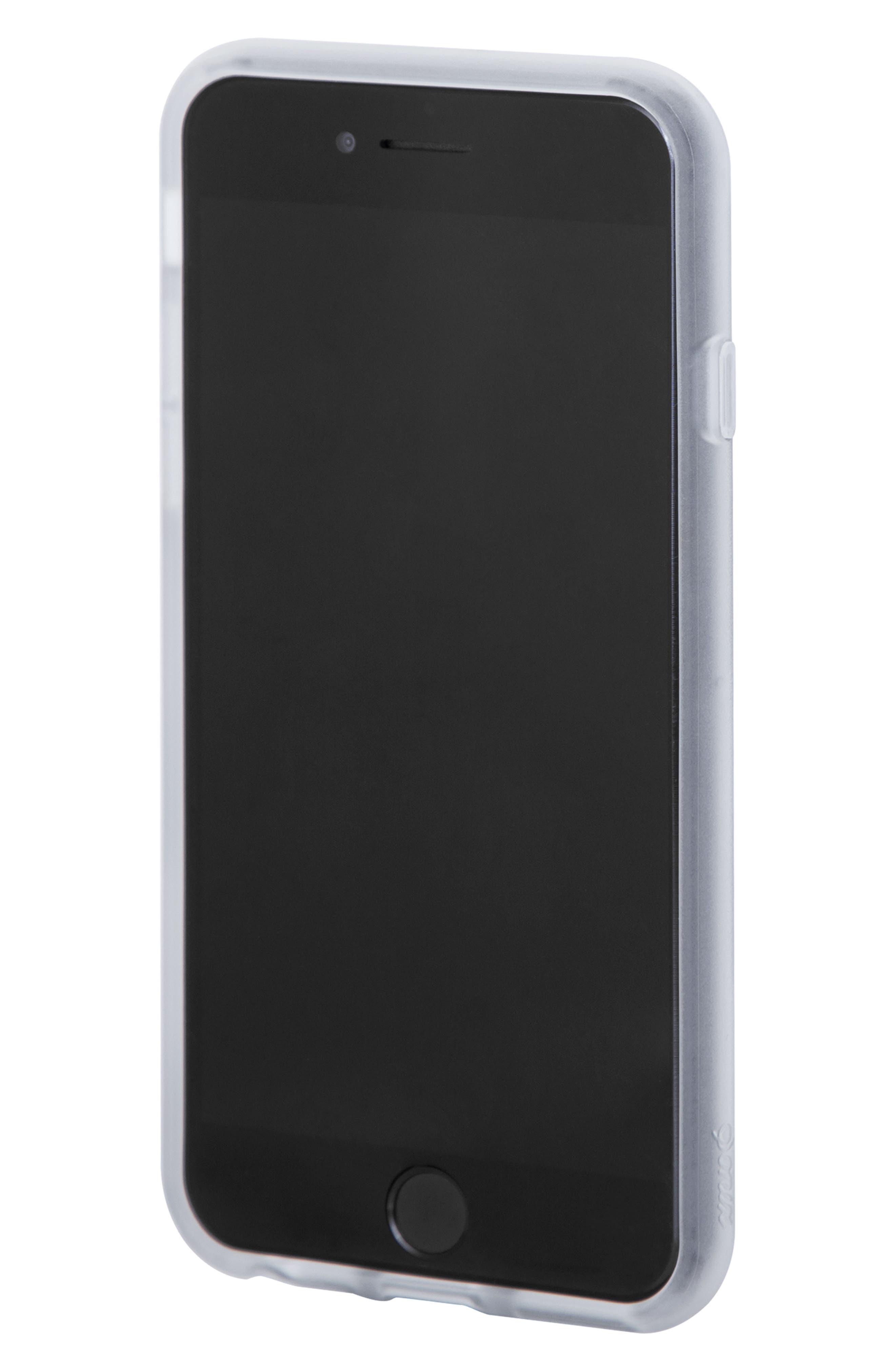 Plumeria iPhone X/Xs, XR & X Max Case,                             Alternate thumbnail 3, color,                             WHITE
