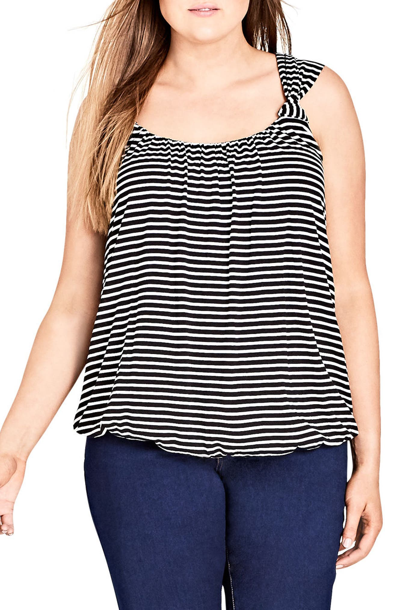 Stripe Bubble Top,                         Main,                         color,