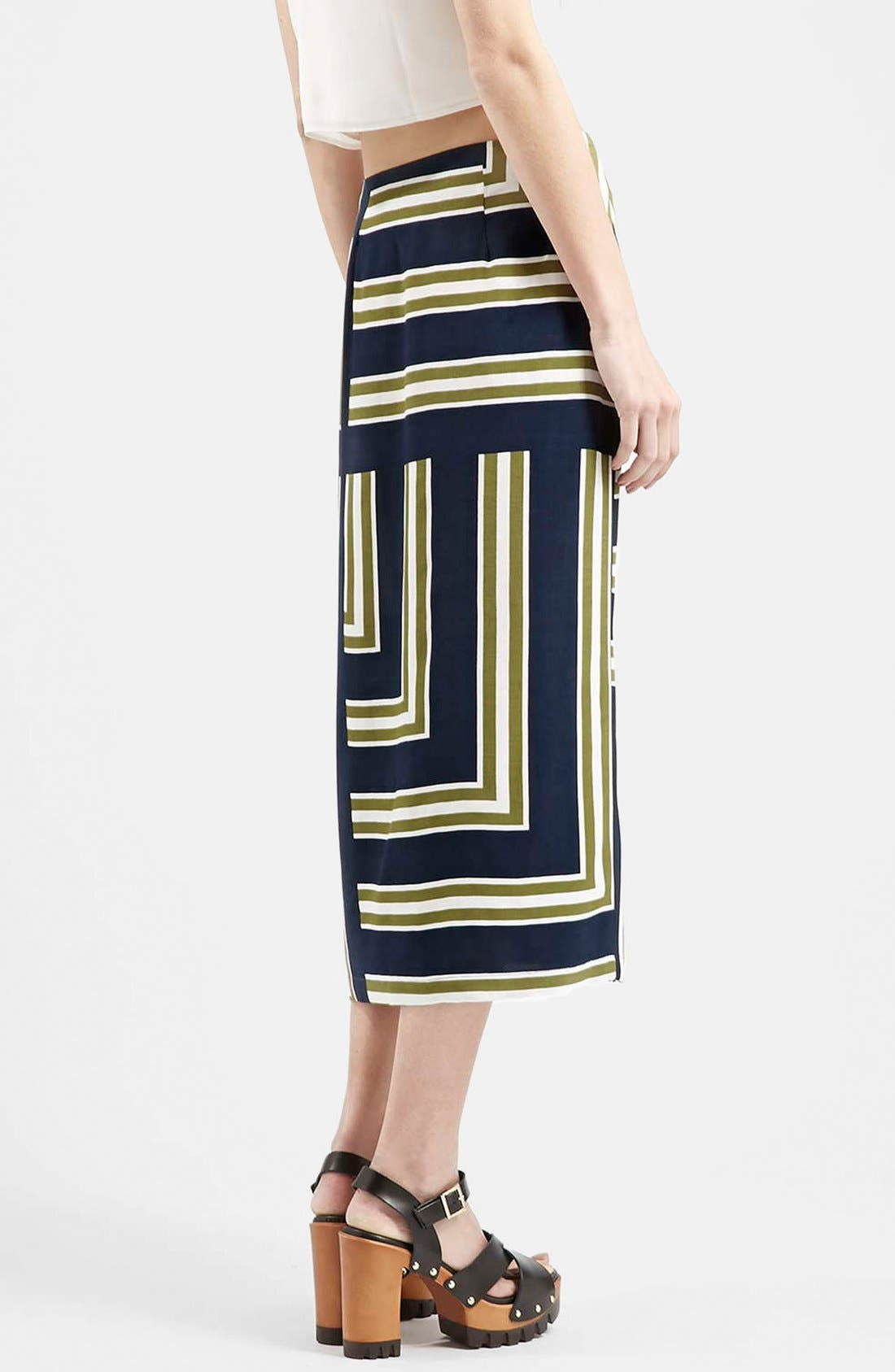 Slit Midi Skirt,                             Alternate thumbnail 3, color,                             410