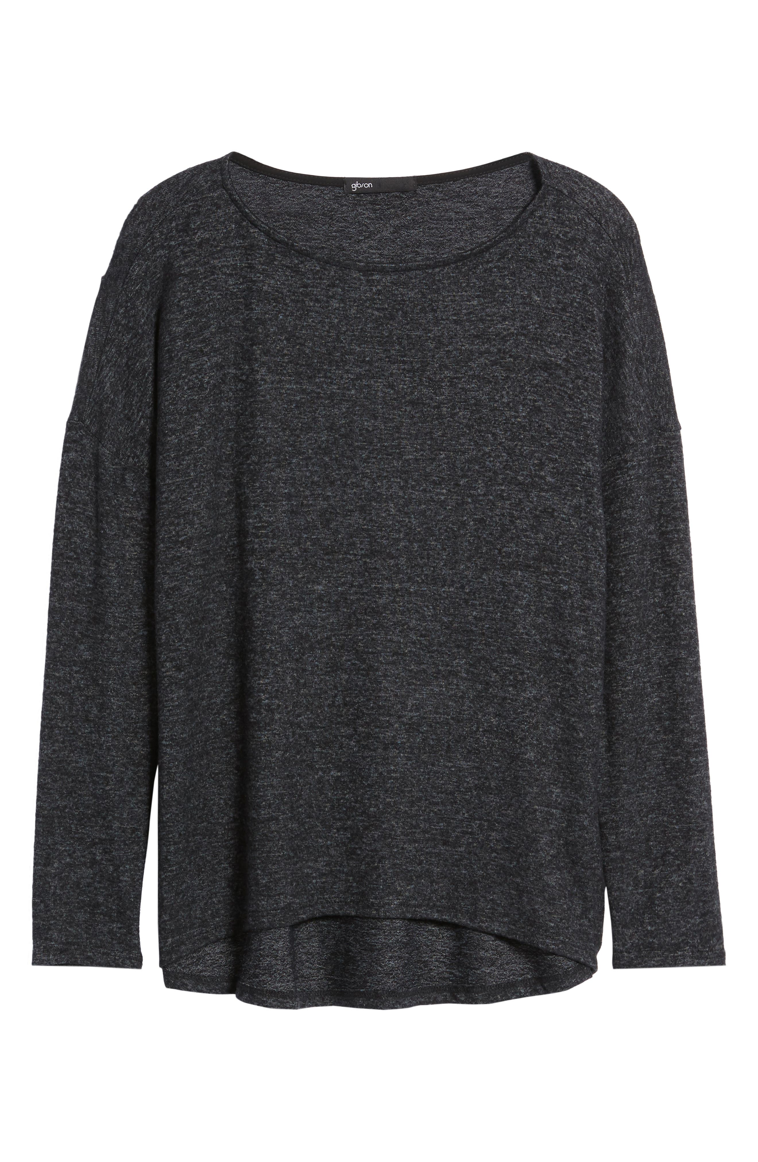 Cozy Ballet Neck High/Low Pullover,                             Alternate thumbnail 24, color,