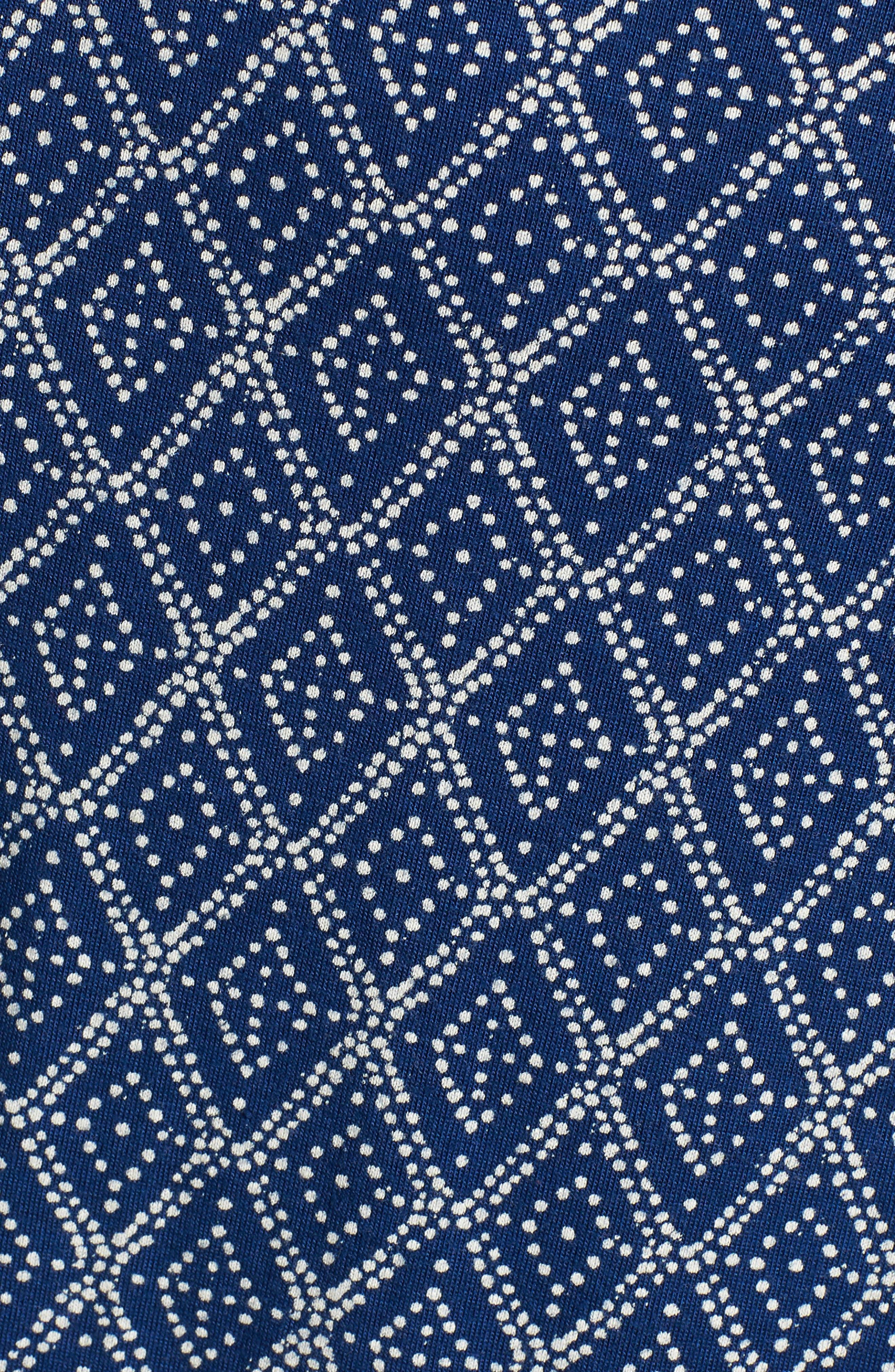 Lucky Border Print Maxi Dress,                             Alternate thumbnail 6, color,                             490