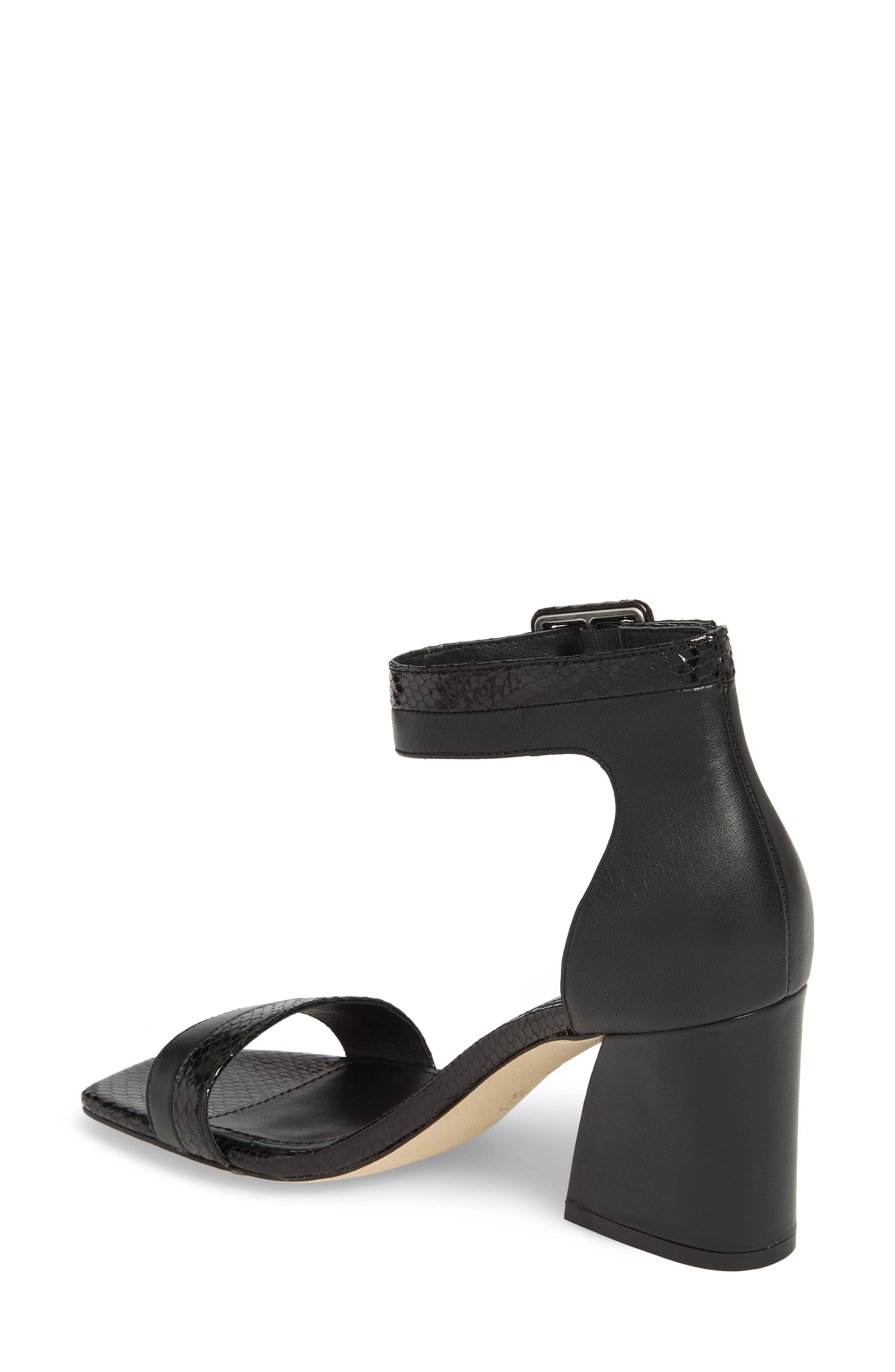 Watson Ankle Strap Sandal,                             Alternate thumbnail 2, color,                             BLACK PRINTED LEATHER