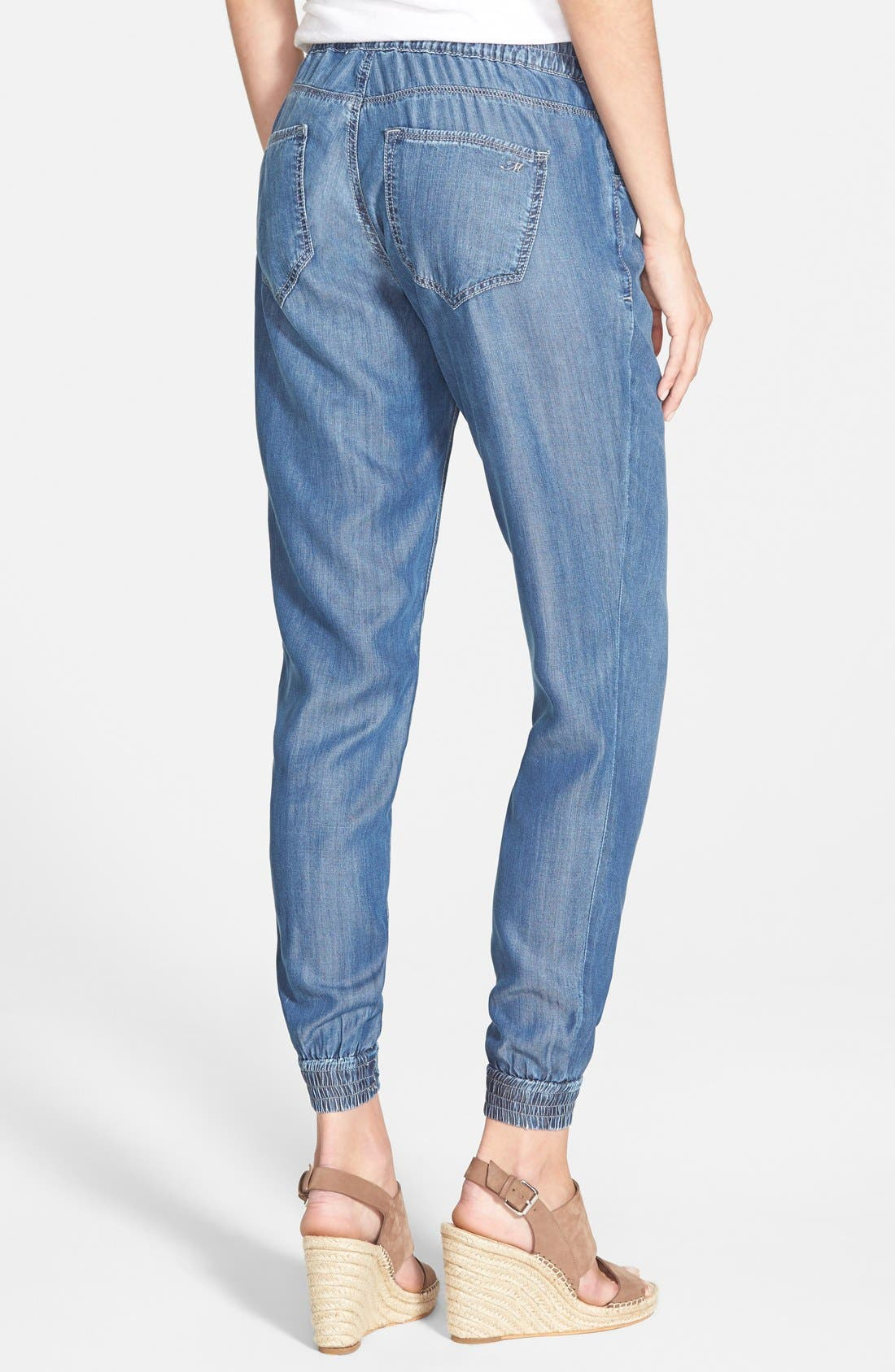 'Aubrey' Drawstring Denim Pants,                             Alternate thumbnail 2, color,                             420